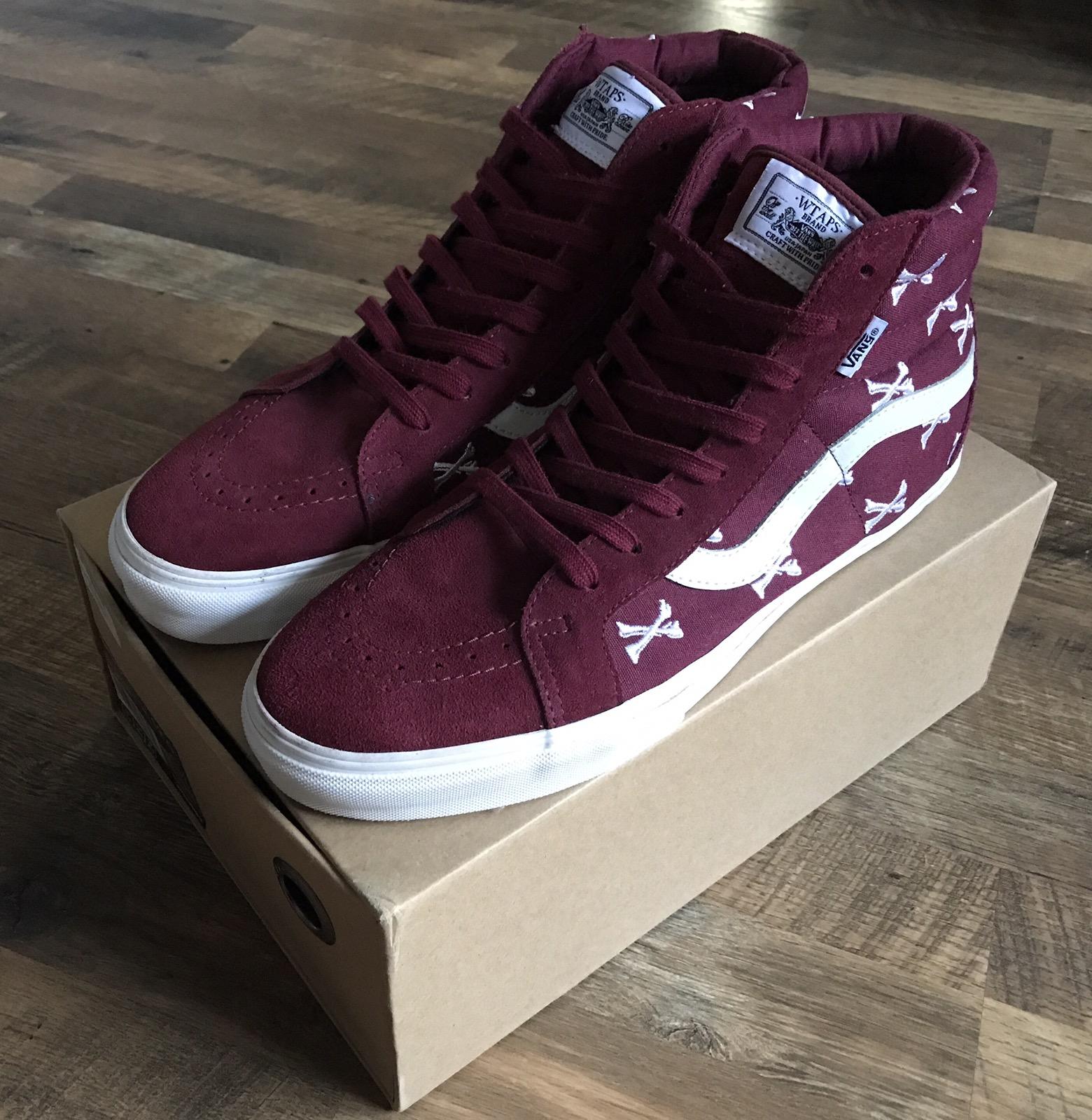 e11c962097 Vans Vans Syndicate x Wtaps Bones Sk8-hi Burgundy Size 12 - Hi-Top Sneakers  for Sale - Grailed