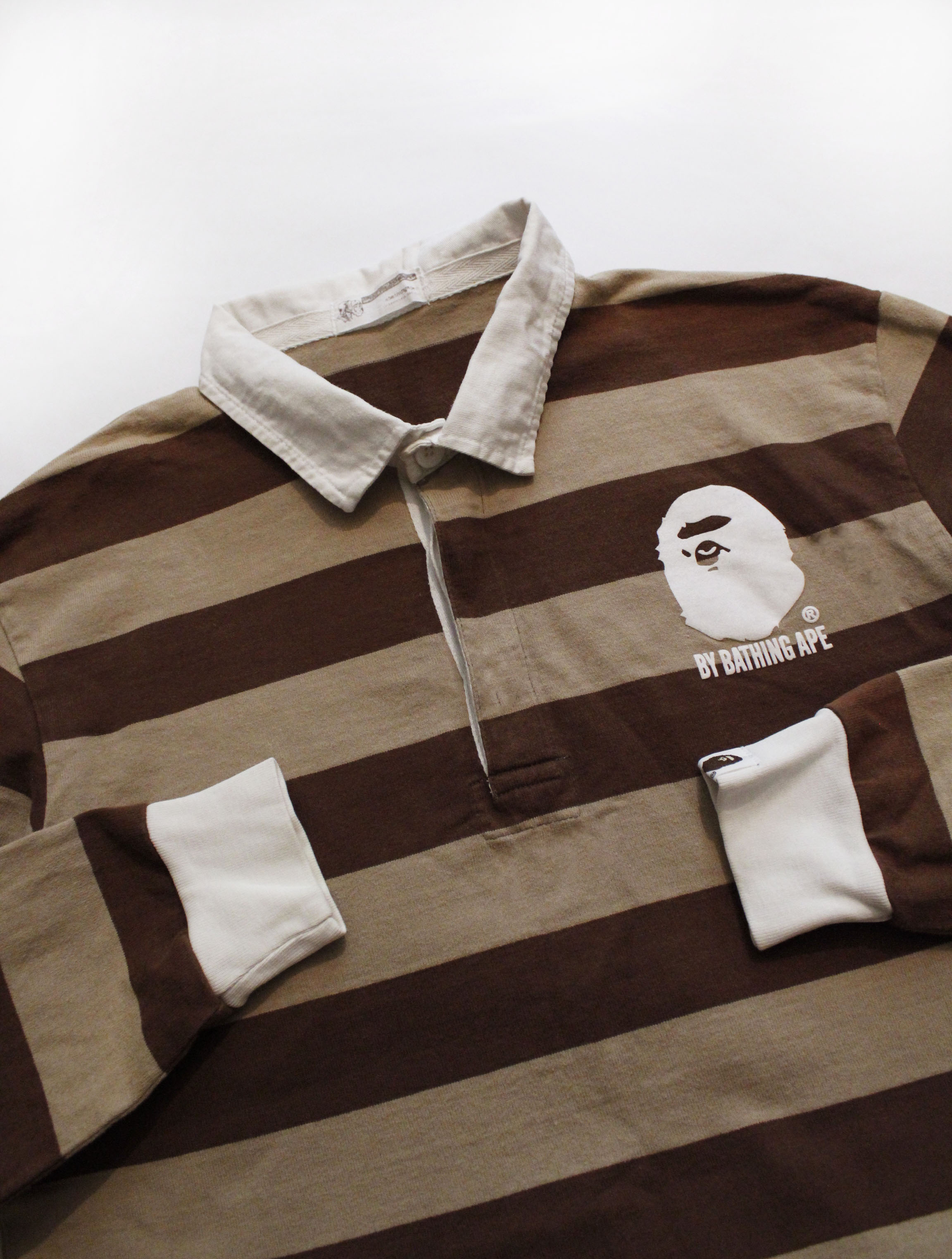 8bad28ec Bape. BAPE BY A BATHING APE MADE WITH GENERAL STRIPED RUGBY SHIRT. Size: US  M / EU 48-50 / 2