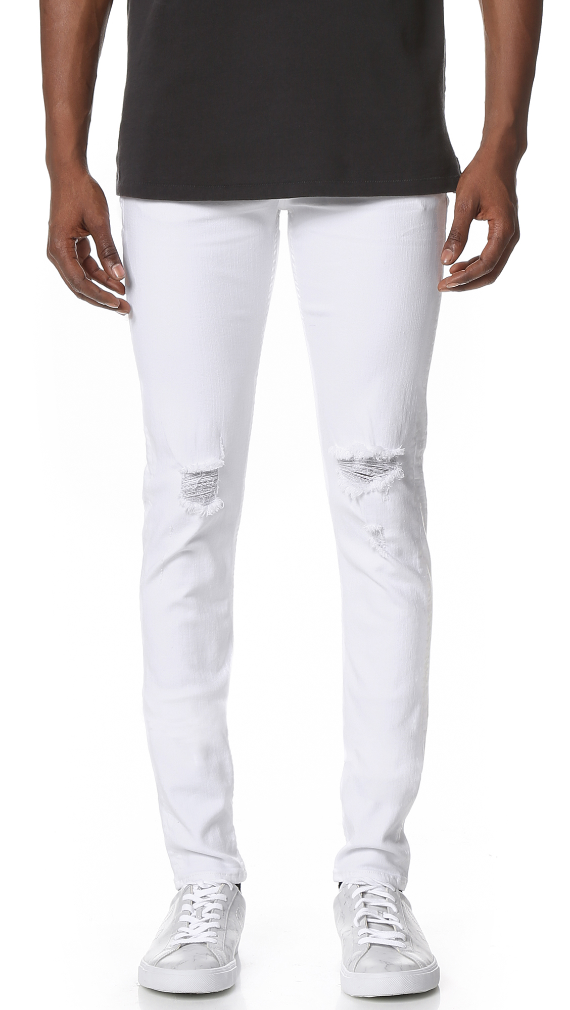 53ab9ed1 Rag Bone Fit 1 Jeans In Aged White With Holes Size 31. Rag Bonemen S Standard  Issue ...