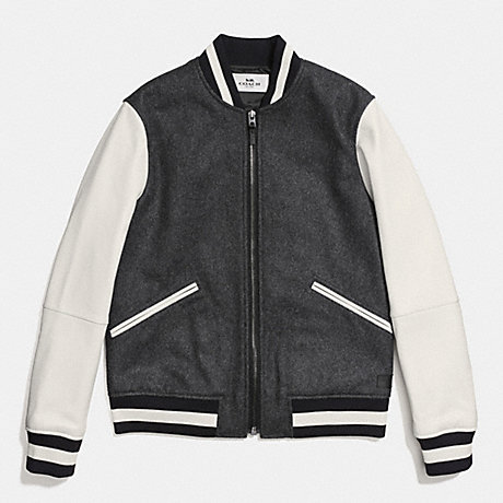 Jacket Coach Varsity Leather Jackets Size Wool Sale For L q6wgx6fC