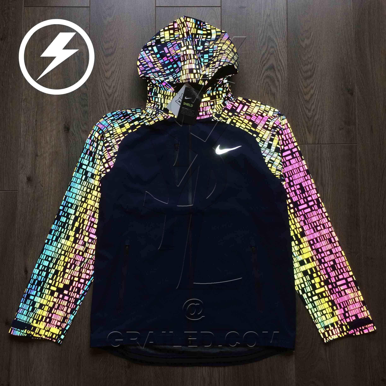 29c3ad84fdb2 Nike Nike Hypershield 3M Flash men s full zip running jacket navy ...