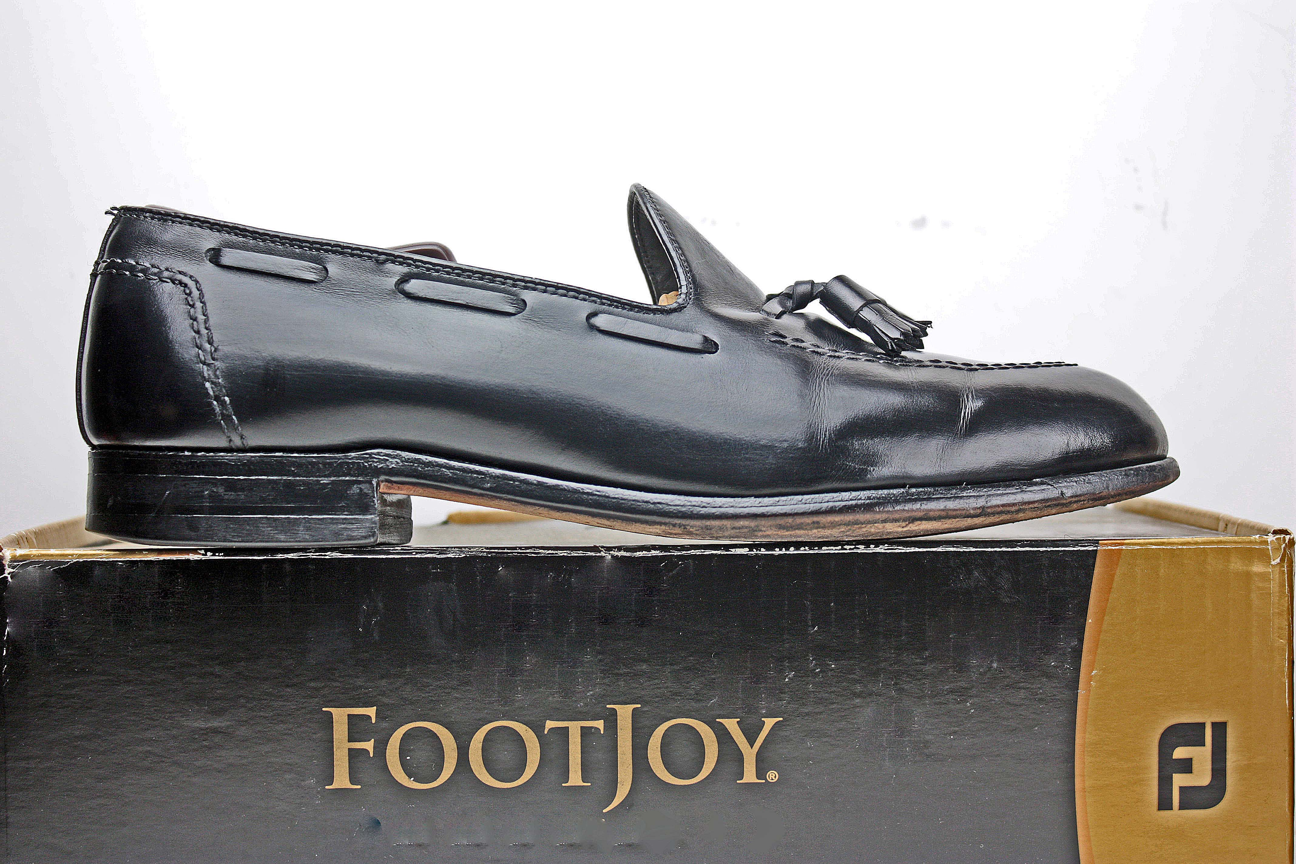 b2595daf206 Footjoy Footjoy Classics Mens Loafers Size 11.5 C Black Leather ...