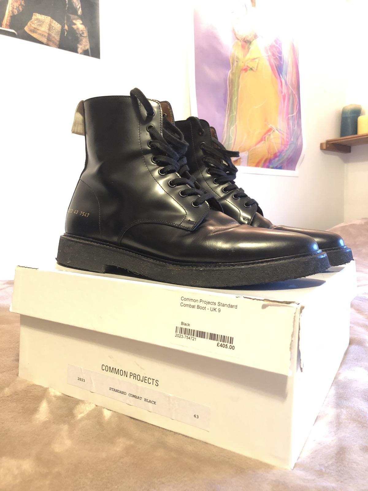 de89d7161e39 Common Projects Black Leather Combat Boots