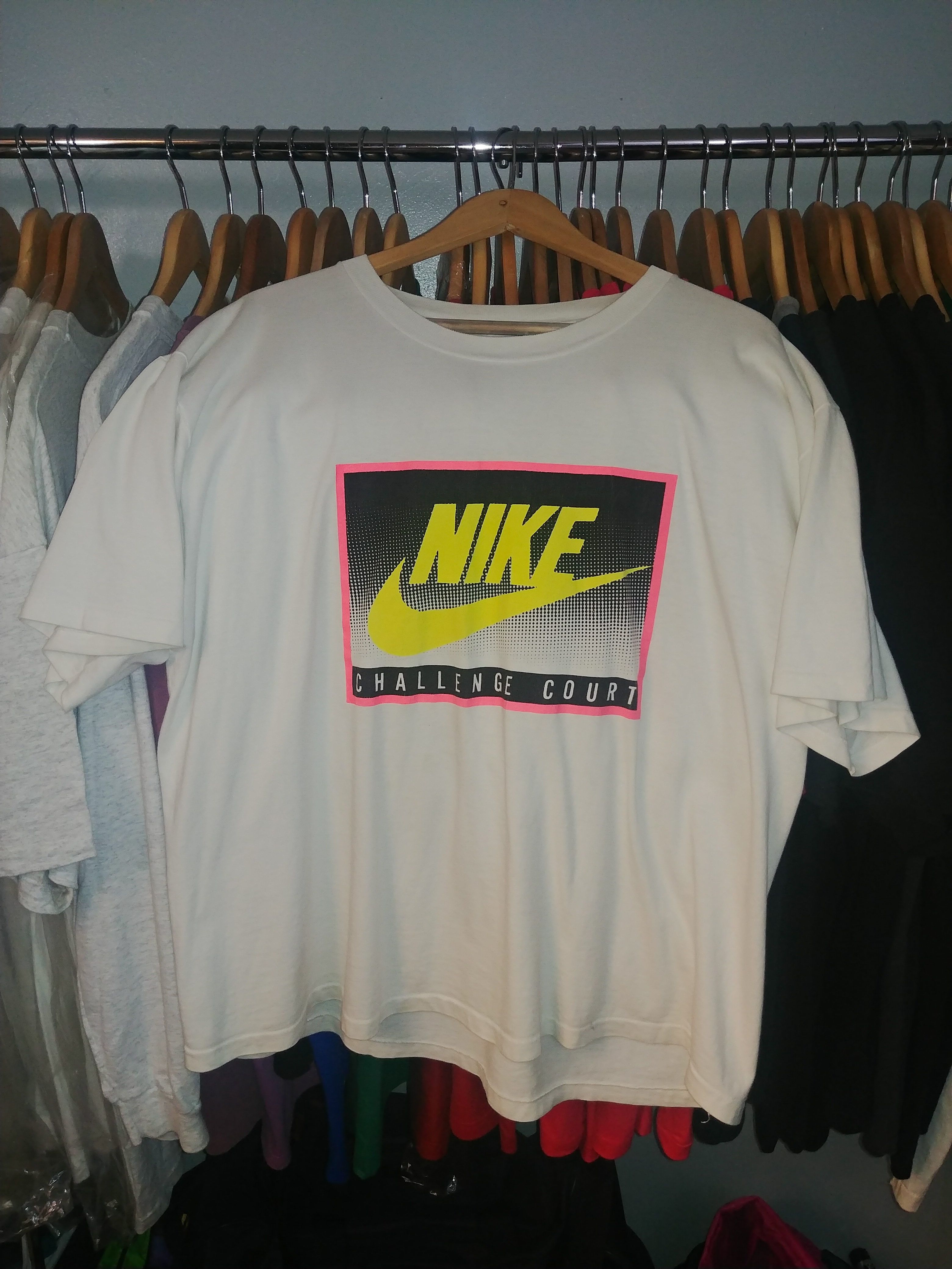96c9209c Nike Vintage 90's Nike Gray Tag Challenge Court Andre Agassi T-shirt ...