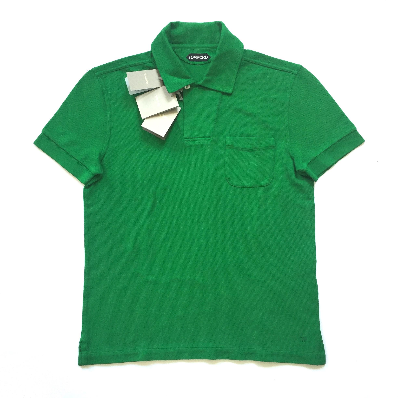 204810c9dd8f1 Tom Ford Green Pique Knit Polo Shirt Nwt   Grailed