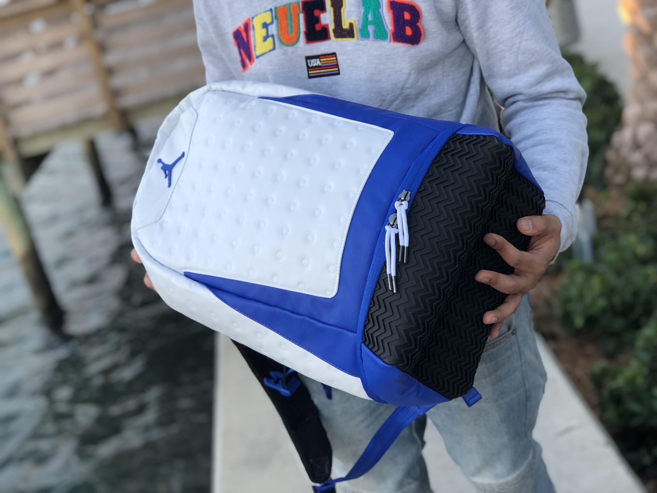 best service 0333d 59ae0 Nike Air Jordan 'White/Blue' Retro 13 Backpack