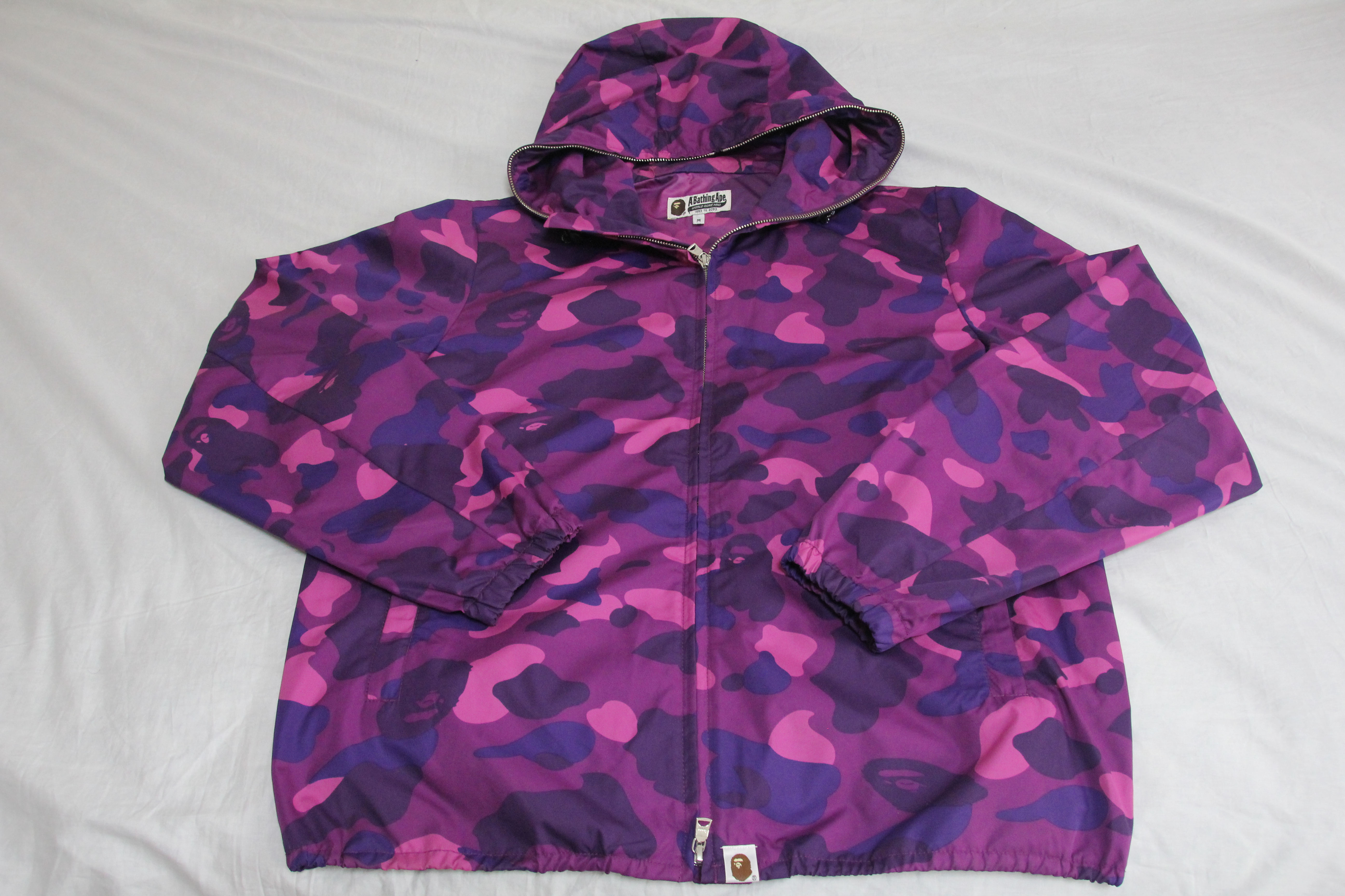 f9281ccf9468 Bape Purple Camo Windbreaker Jacket Size m - Parkas for Sale - Grailed