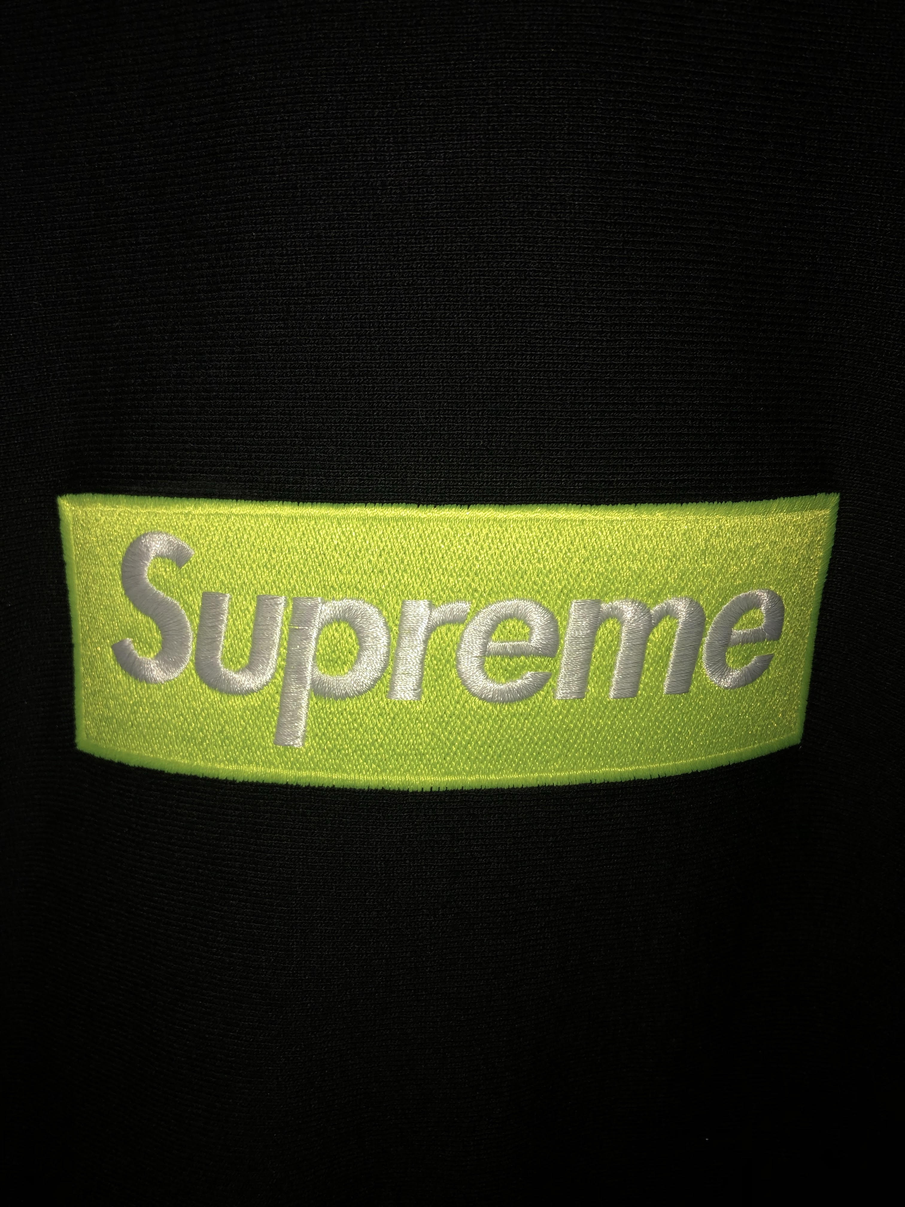 1f81760094ed Supreme Black Lime Box Logo Hoodie FW17 Size xl - Sweatshirts   Hoodies for  Sale - Grailed