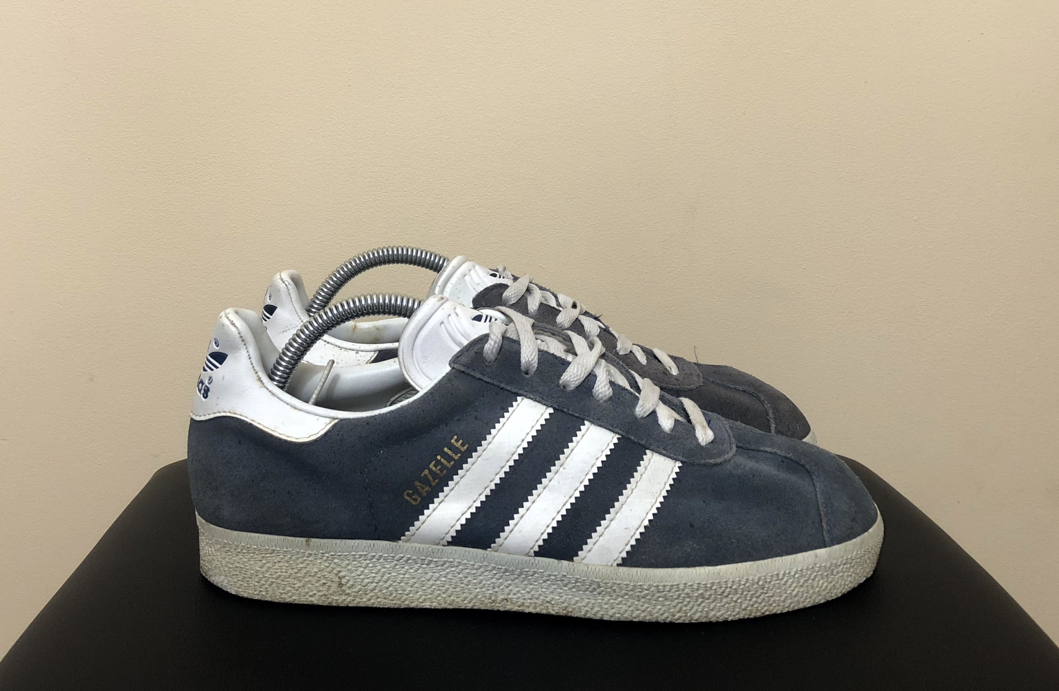Vintage 1995 Adidas Gazelle Suede Shoes Size US 7,5 UK 7 Rare Casual Art 034581