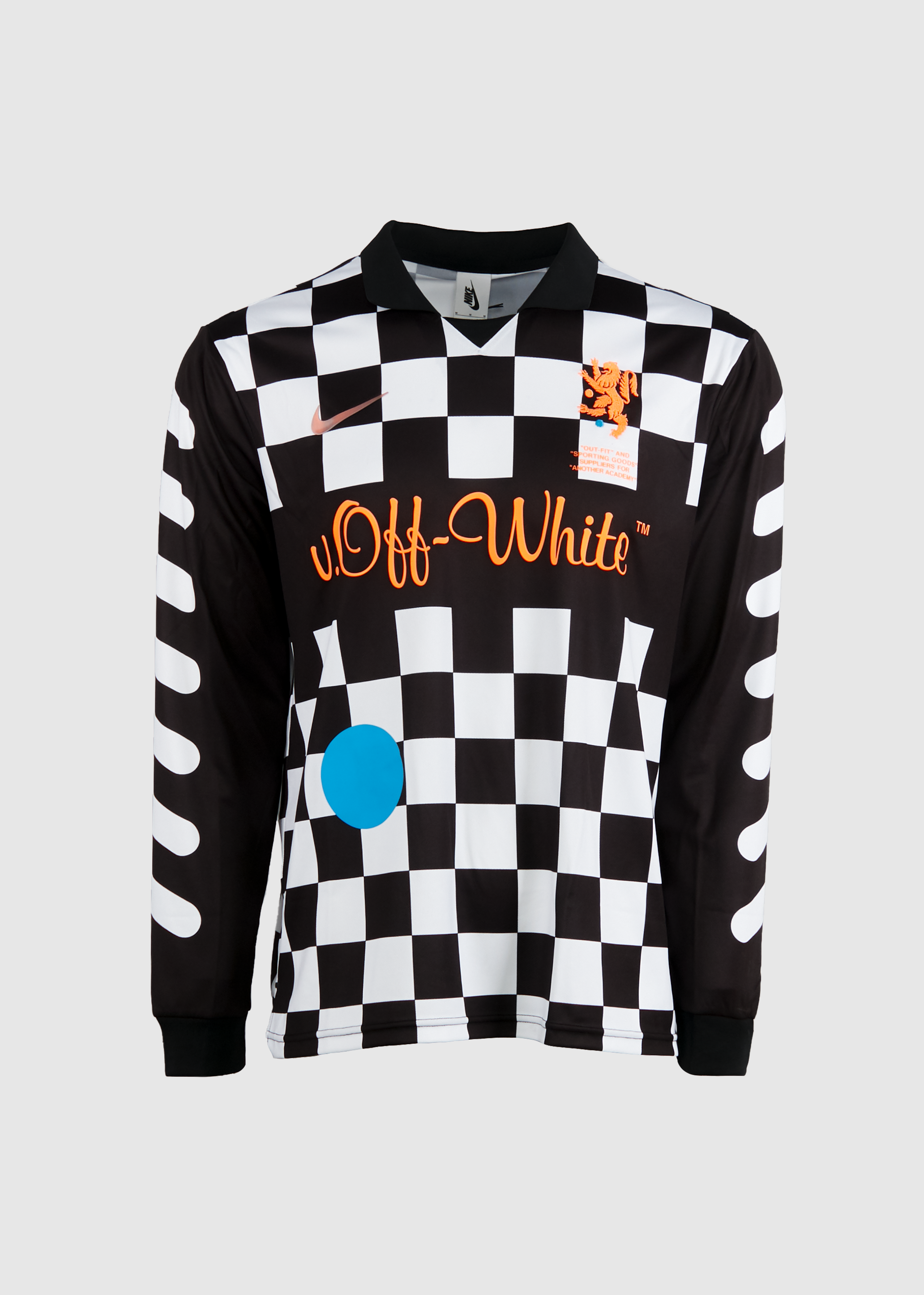 official photos 4f375 c015f Nike x Off-White Checkerboard Long Sleeve Jersey