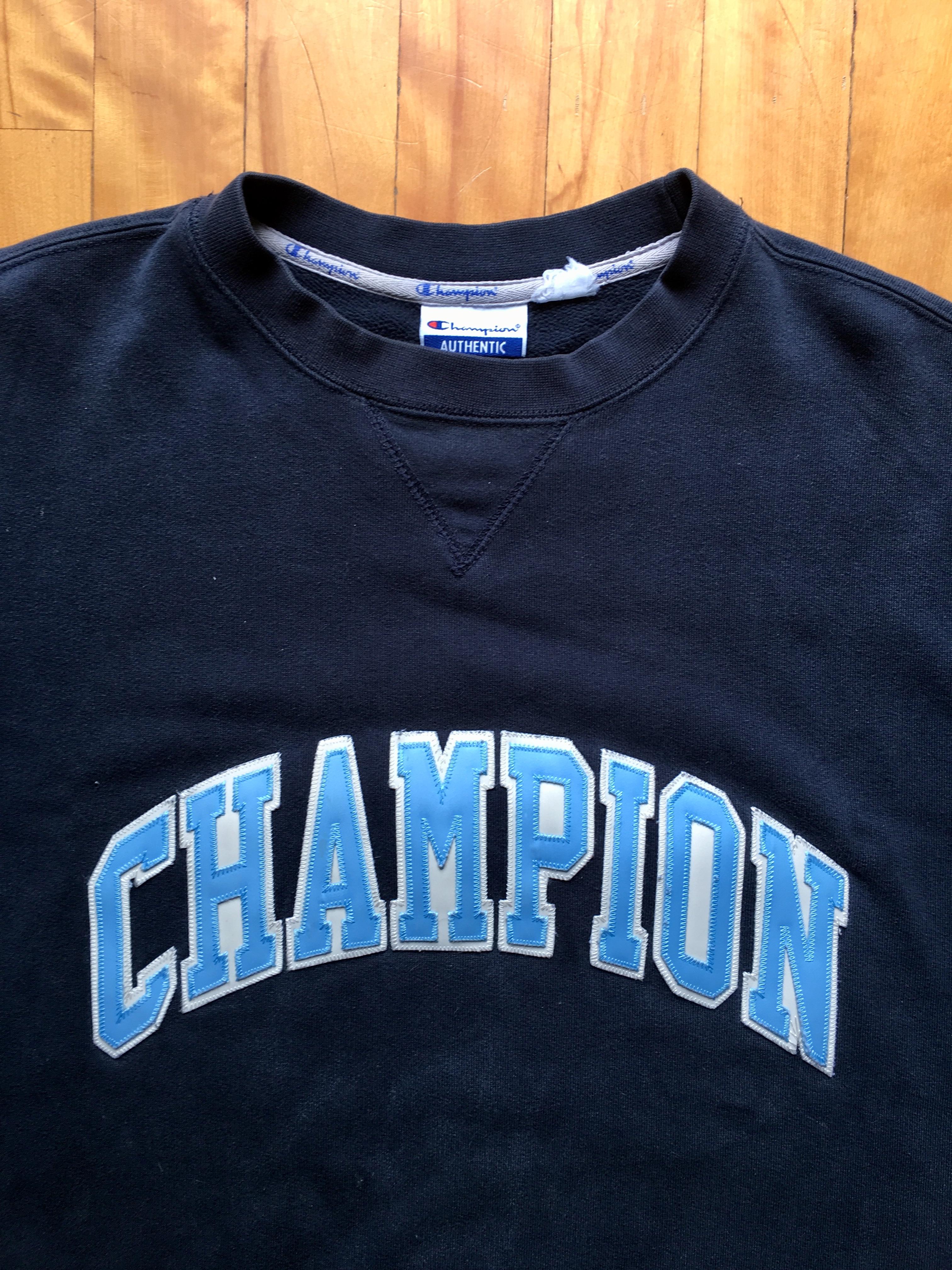 Vintage Champion Varsity Block letters Crewneck Classic 90s sweatshirt