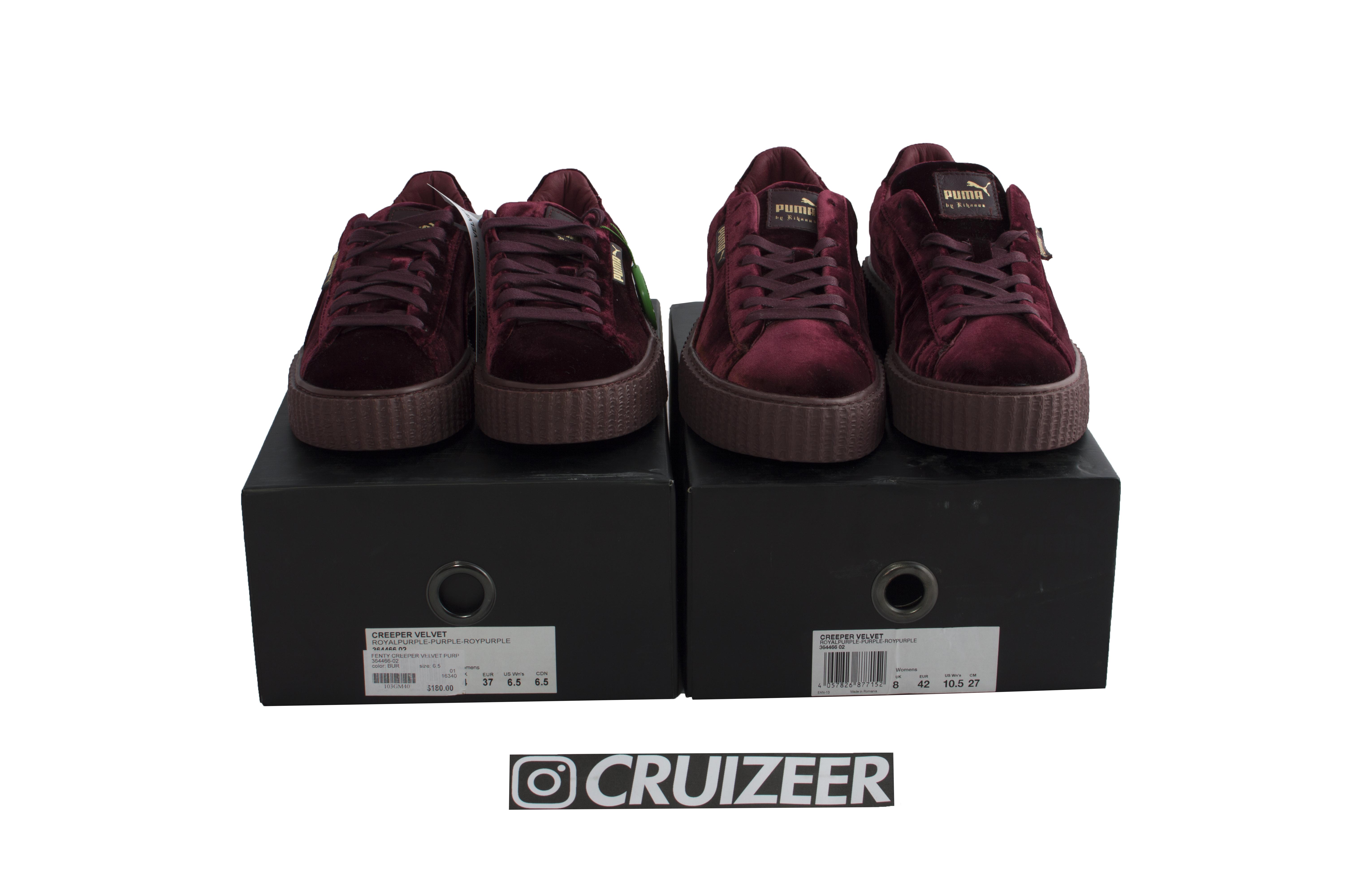 a351f7c4c182 Puma X Rihanna Puma Creepers X Rihanna Fenty Velvet Purple (us 10