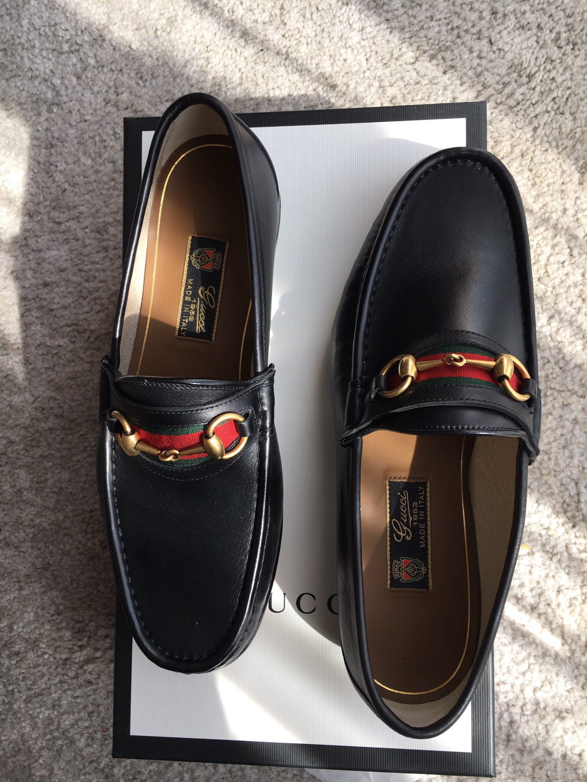 b3749e74221 Gucci 1953 horsebit Loafers Size 9.5 - Casual Leather Shoes for Sale -  Grailed