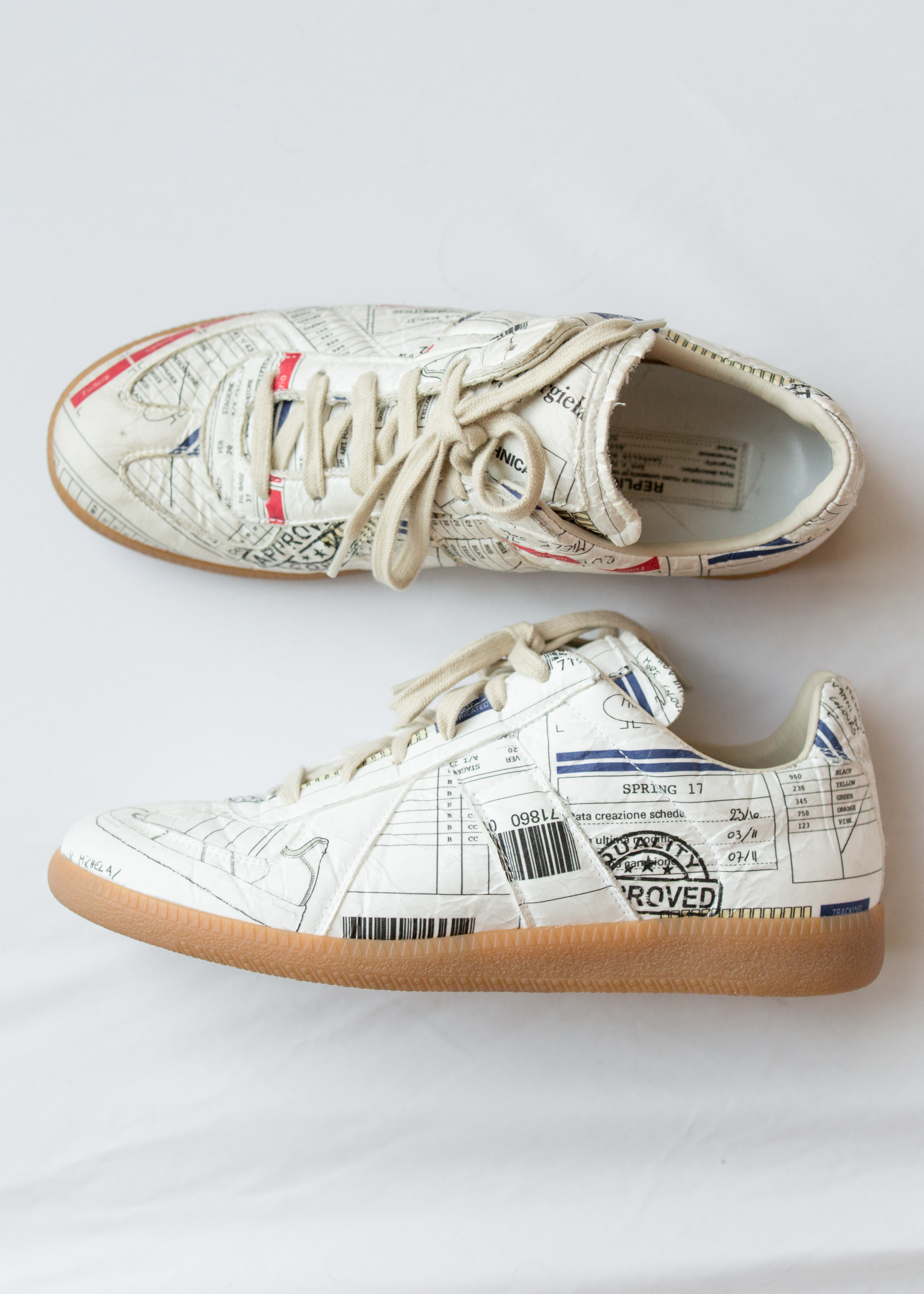af4e30503193 Maison Margiela Super Rare Logo Replica Sneakers Size 8 - Low-Top ...