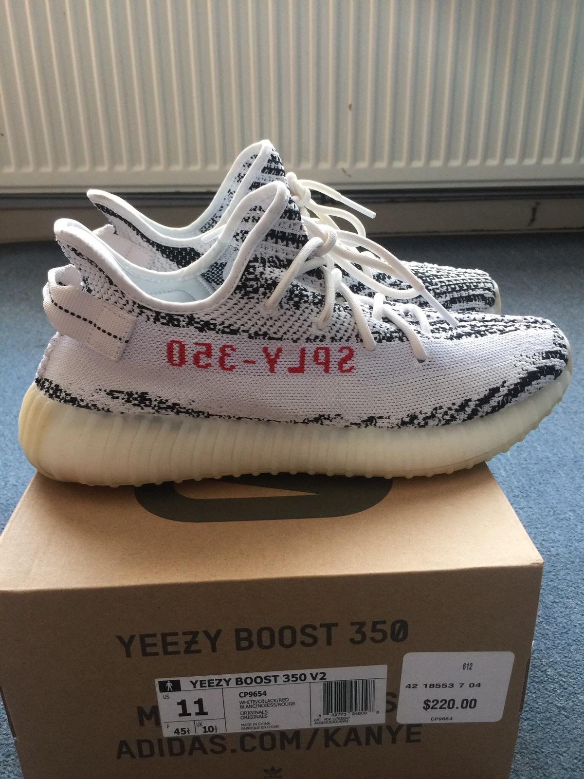 c532ed183e62b Adidas Kanye West Adidas Yeezy Boost 350 V2 Zebra Size 11 - Low-Top ...