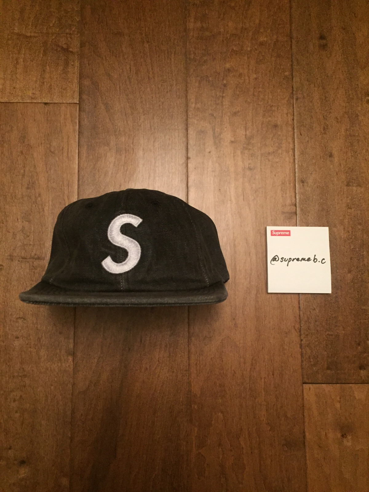 4b0a28531b4 Supreme Washed Denim S Logo 6-Panel Hat Black Size one size - Hats for Sale  - Grailed