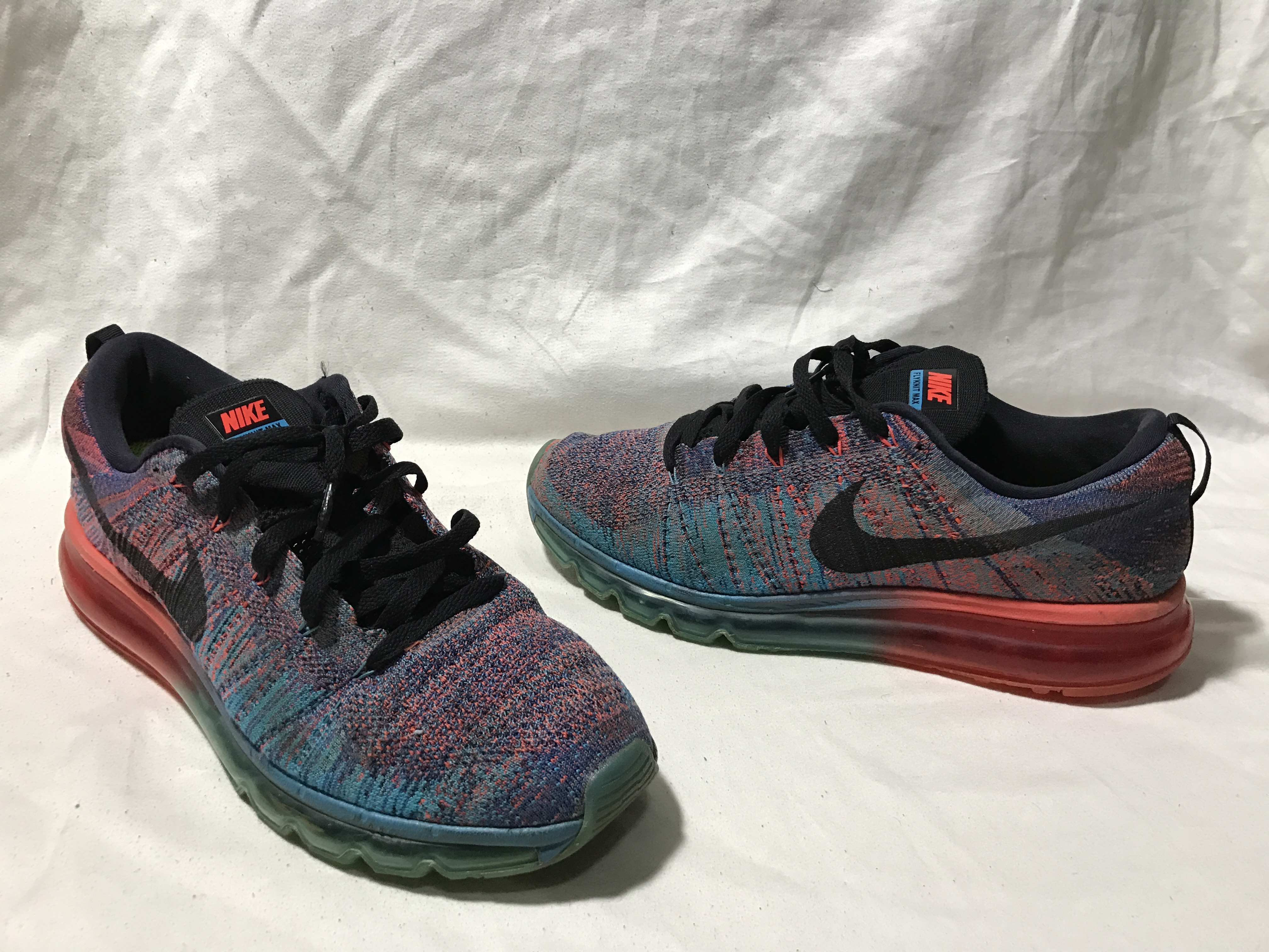 timeless design 251a4 4766e Nike Nike Flyknit Air Max Blue Lagoon Black Crimson Red Multicolor ...