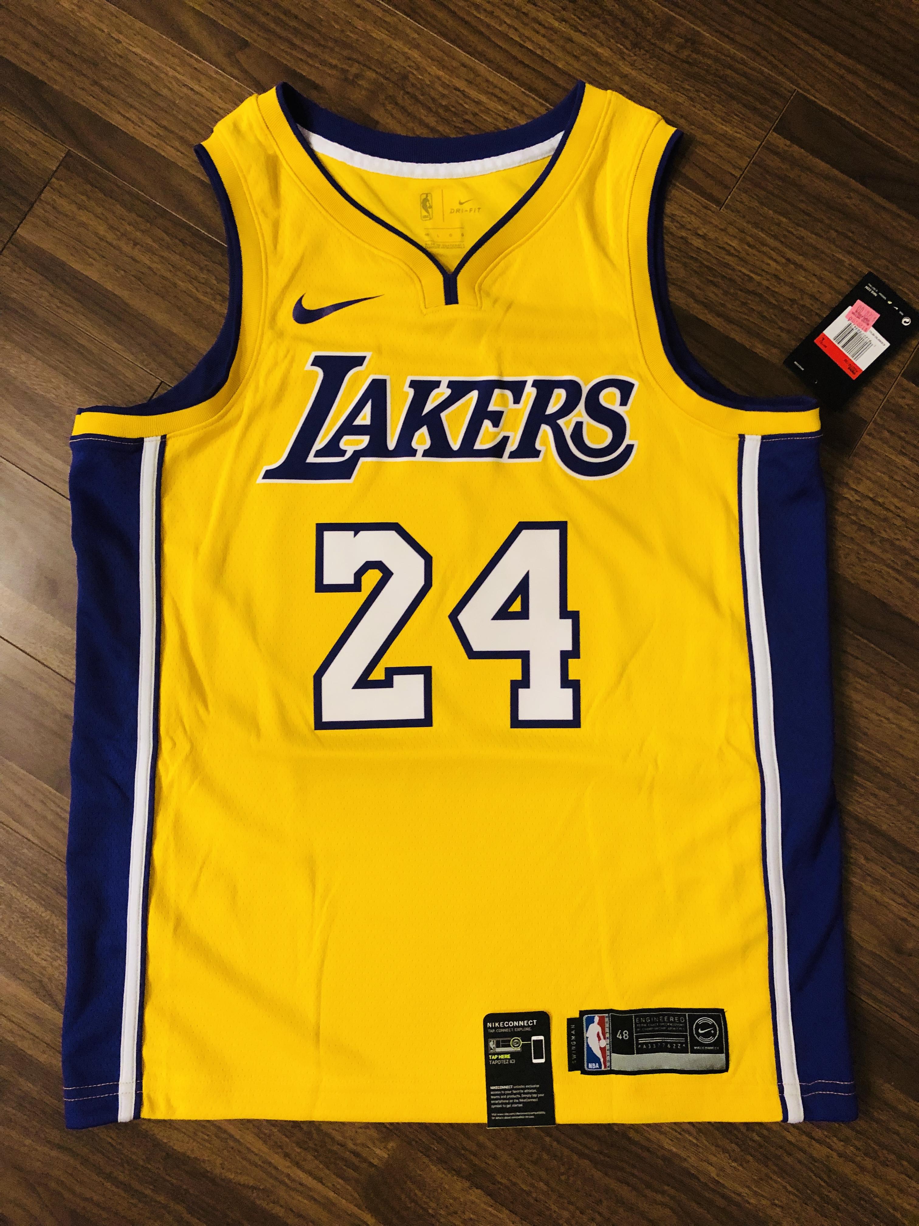 6c5fc9e5fb7 Nike Authentic Nike Kobe Bryant Swingman Lakers Jersey Aq2109-728 ...