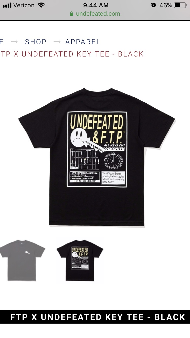 Undefeated Men Fuckk Out Of Here LS Tee black
