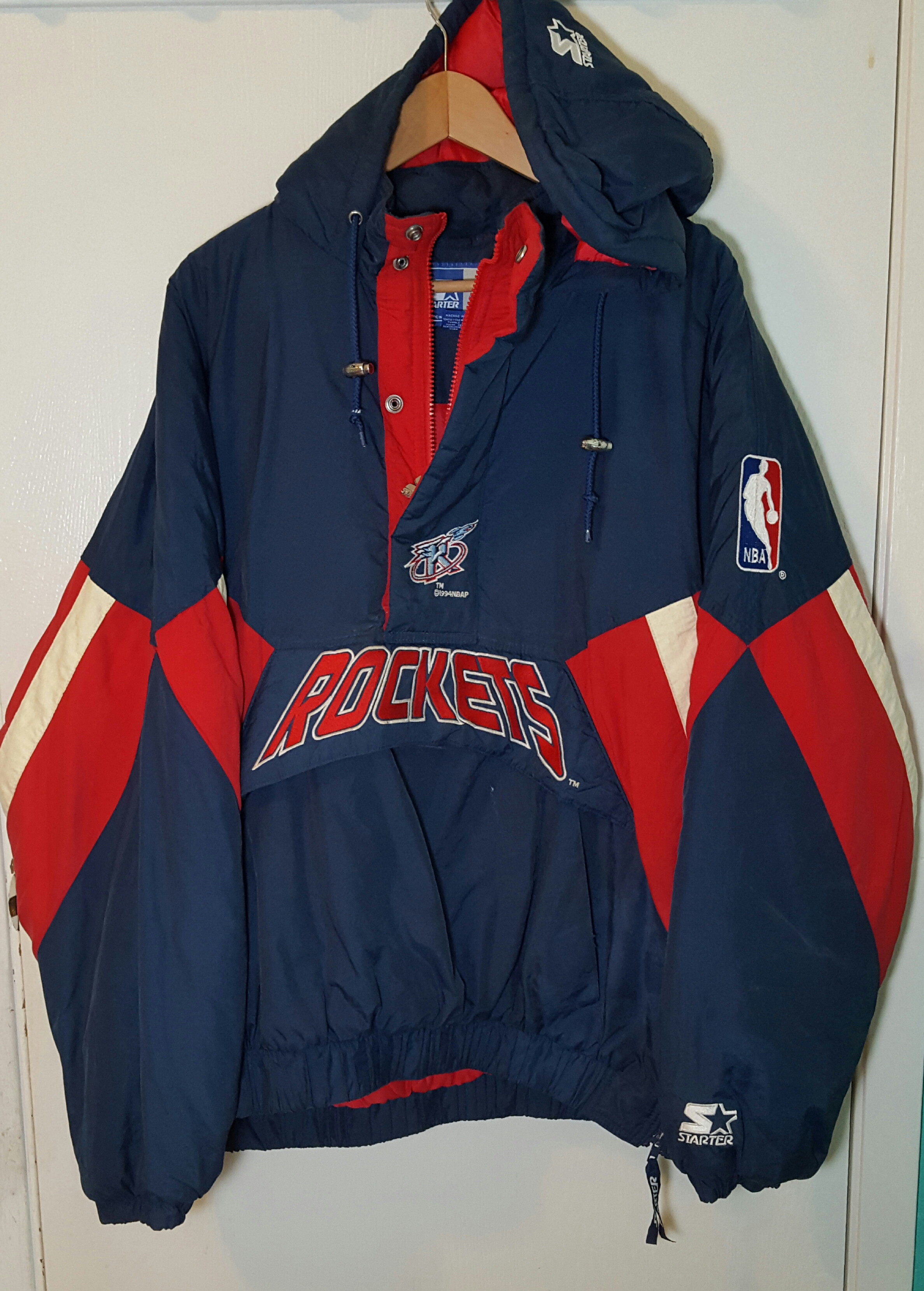 4b65e4d015c Vintage Vintage 1994 NBA Houston Rockets Starter quarter zip jacket ...