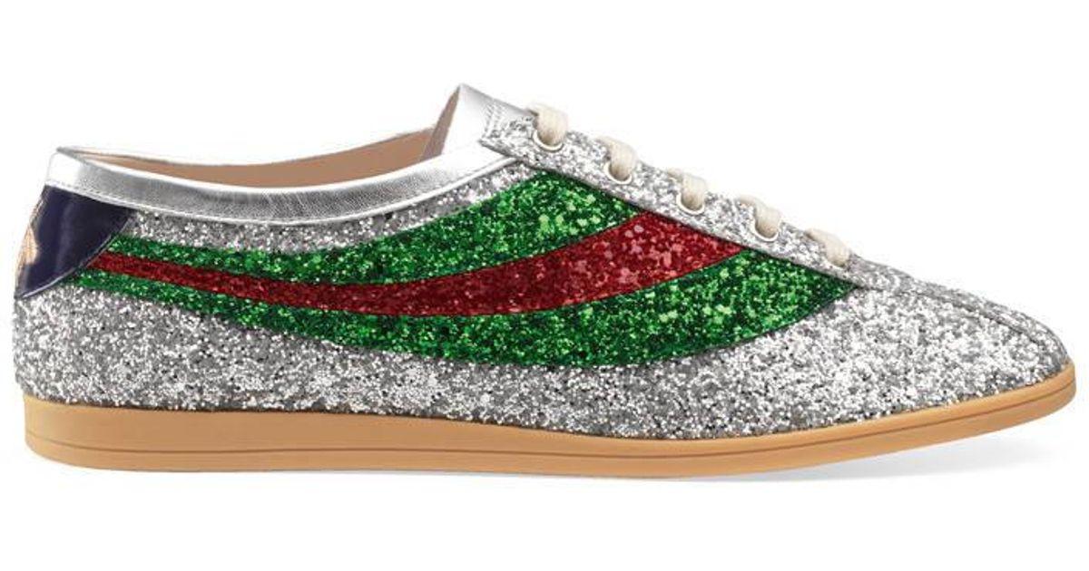 34d4d6e22d0c Gucci Falacer Glitter Bee Sneakers