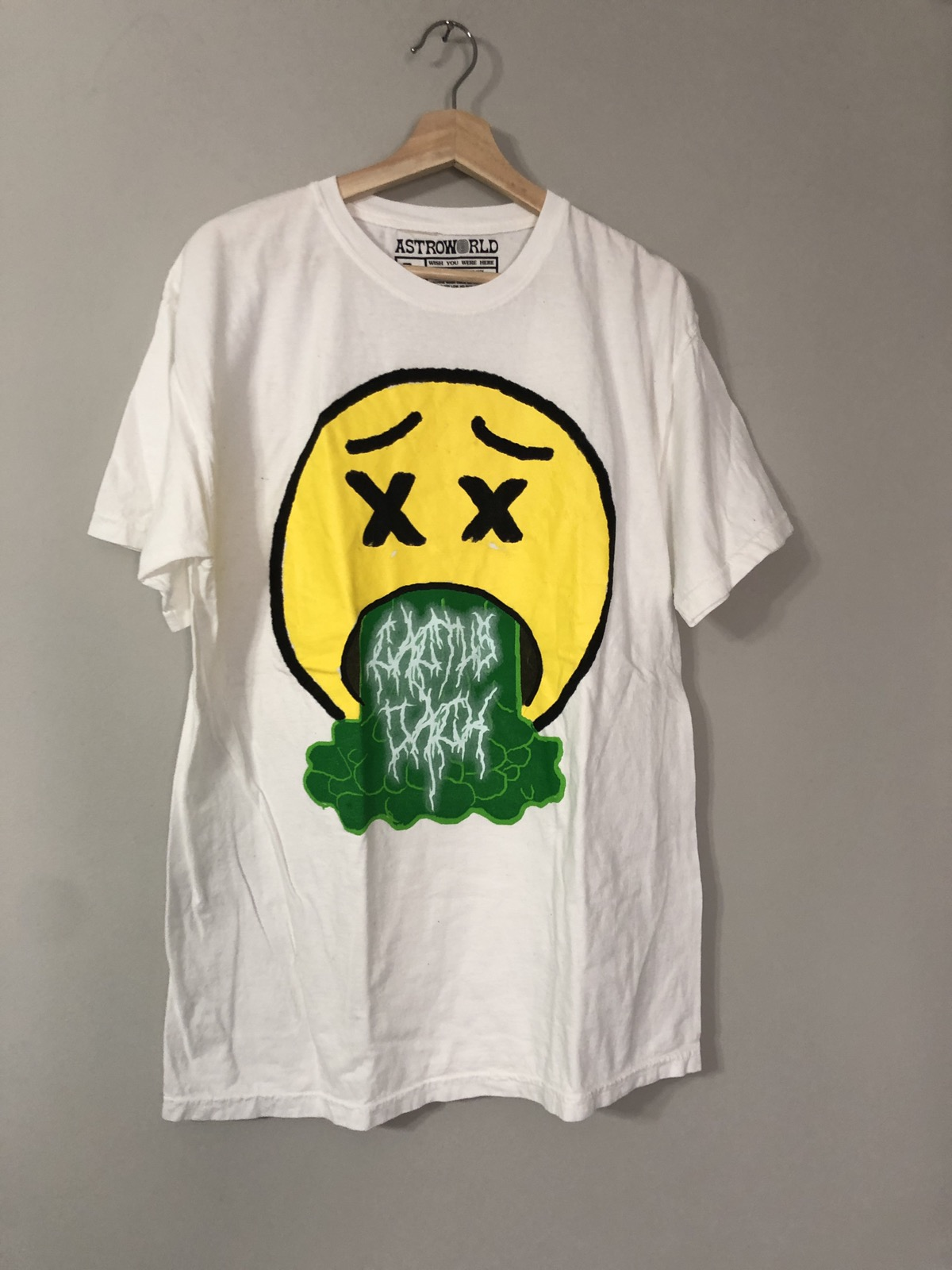 7bcb4820b8f0 Travis Scott ×. Unreleased Sicko Mode Emoji Travis Scott Astroworld Shirt