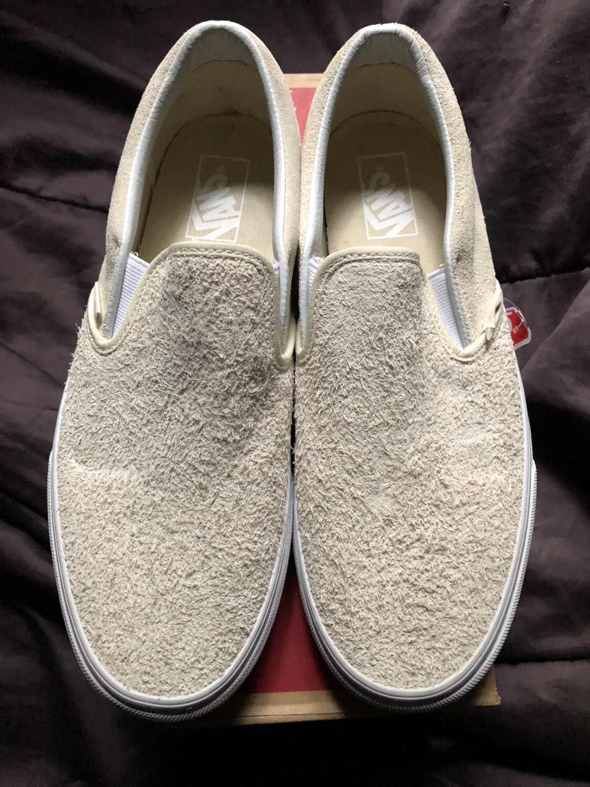 933b187346 Vans Brand New Vans Classic Slip-on Hairy Suede In Turtledove Off White 9.5