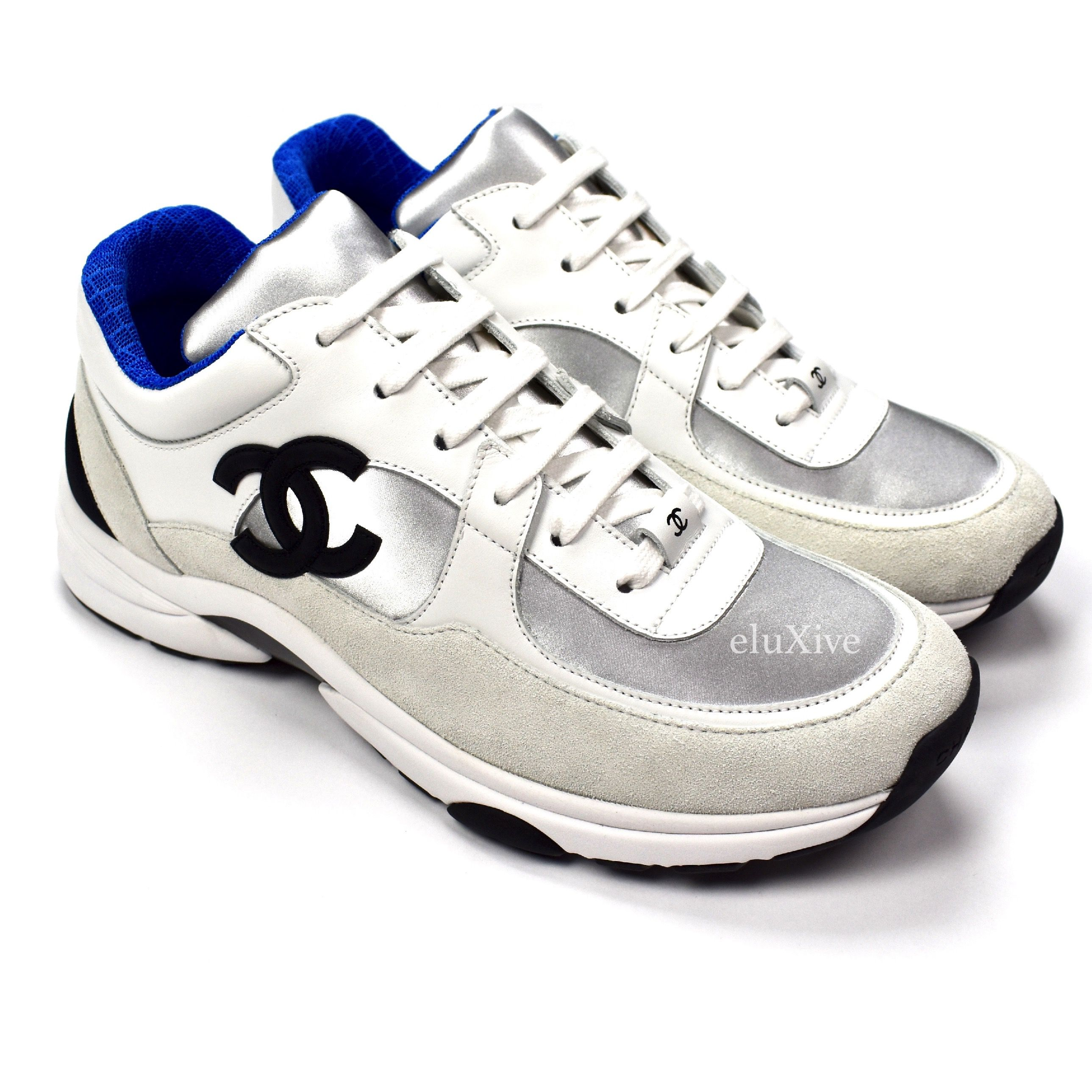 6b0162a1d00470 Chanel 2018 Trainer Sneakers 18p Blue Ds | Grailed