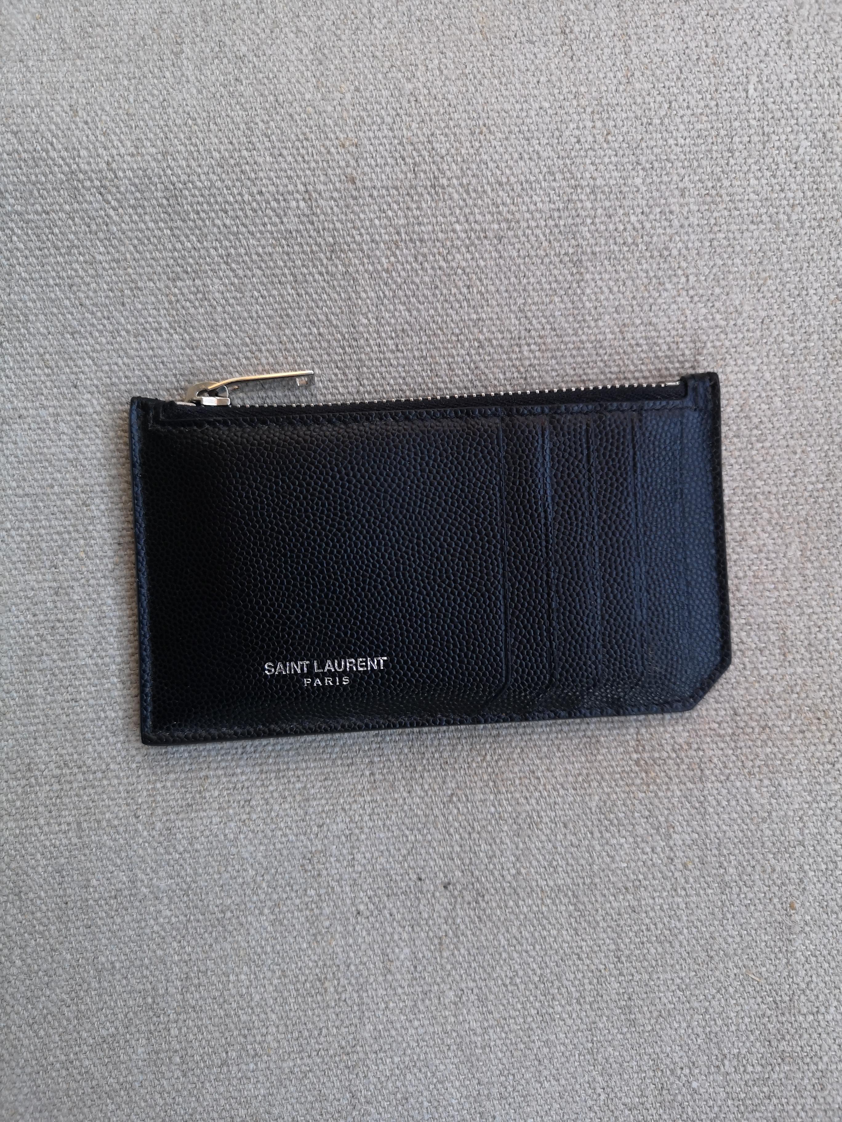 bc435f6eeed Saint Laurent Paris Saint Laurent Fragment Leather Zip Card Holder ...