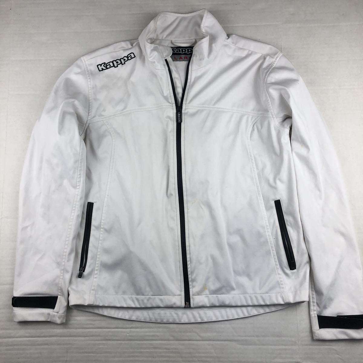 Vintage 90s Kappa Light Gray Zip Up Track Jacket