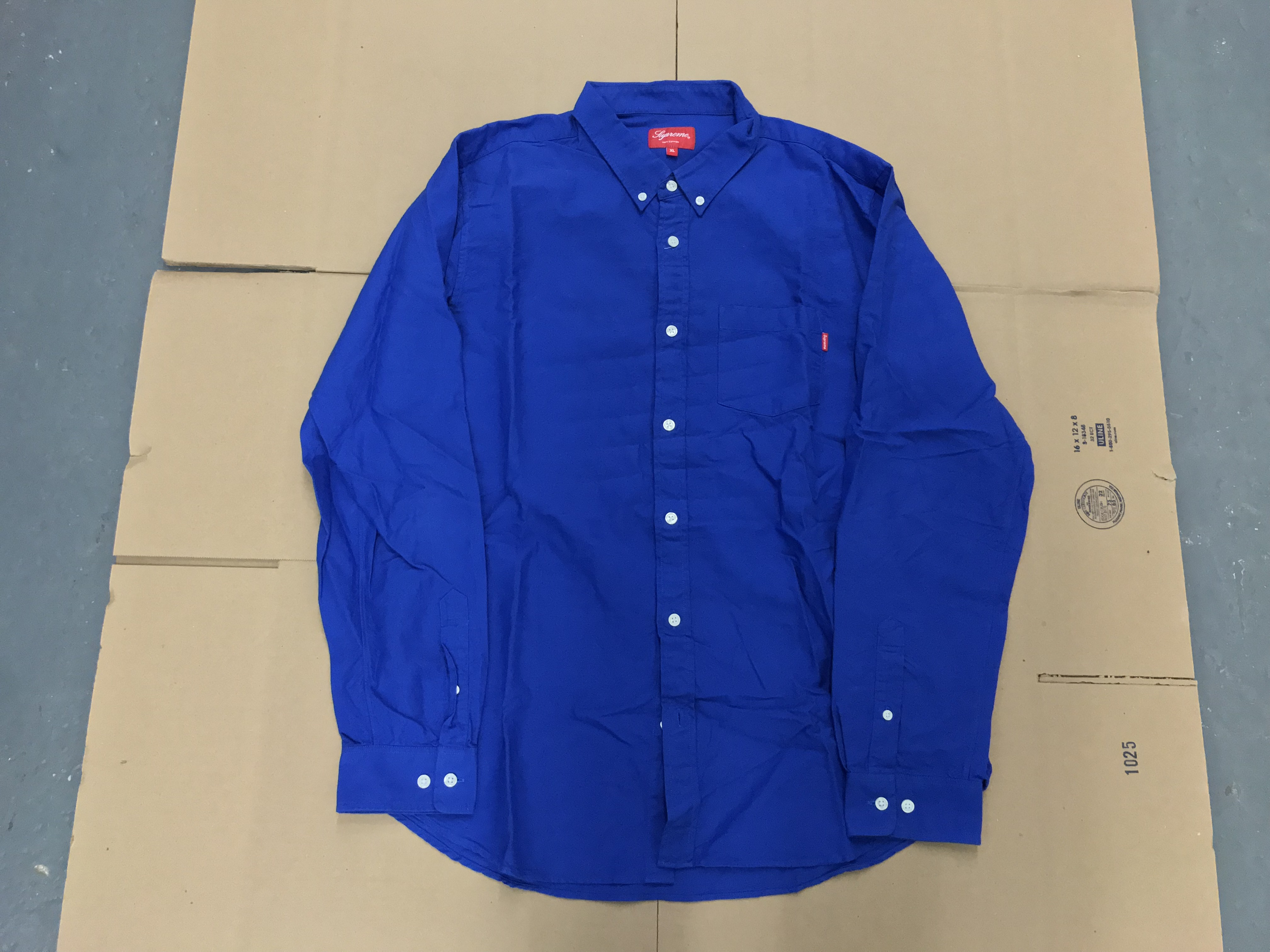 ec82c782fd9a Supreme Supreme Royal Blue Button Up Shirt Sz Xl | Grailed