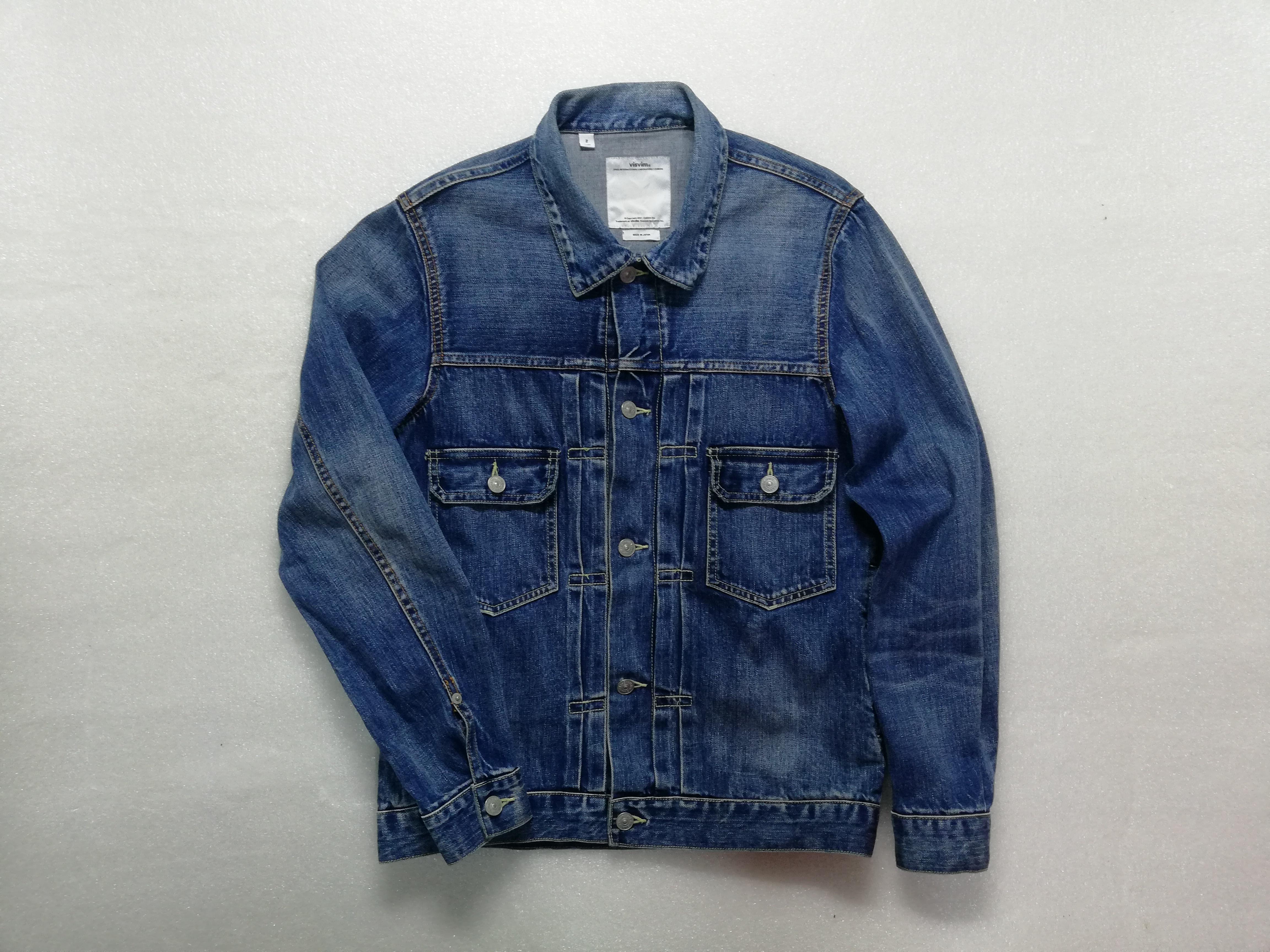 fef1bb806291 Visvim SS 101 Denim Jacket Damaged  Final Sale  Size m - Denim ...
