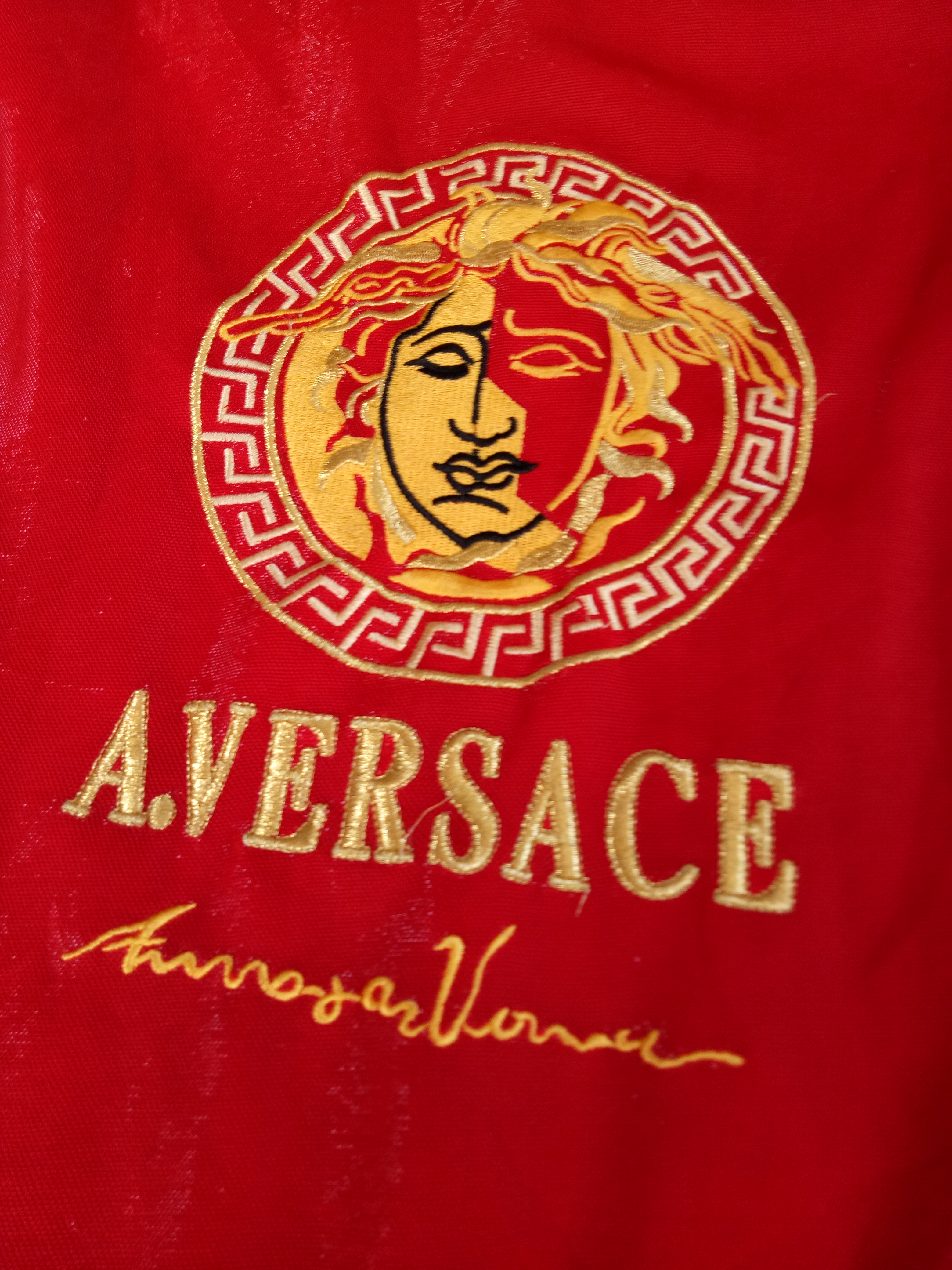 ee32f2da Versace ×. Vintage A. Versace Medusa Jacket Big Embroidery not gucci ...