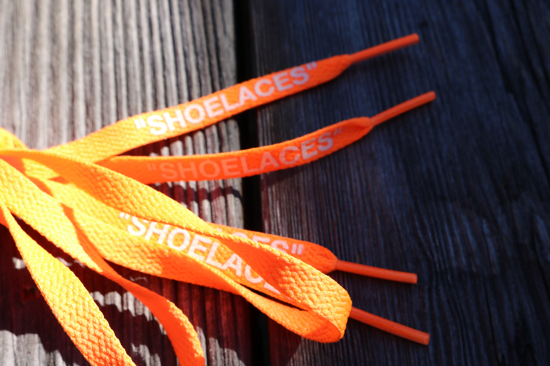 Off White New Off White Nike Orange Shoe Laces Air Max 90 Grailed