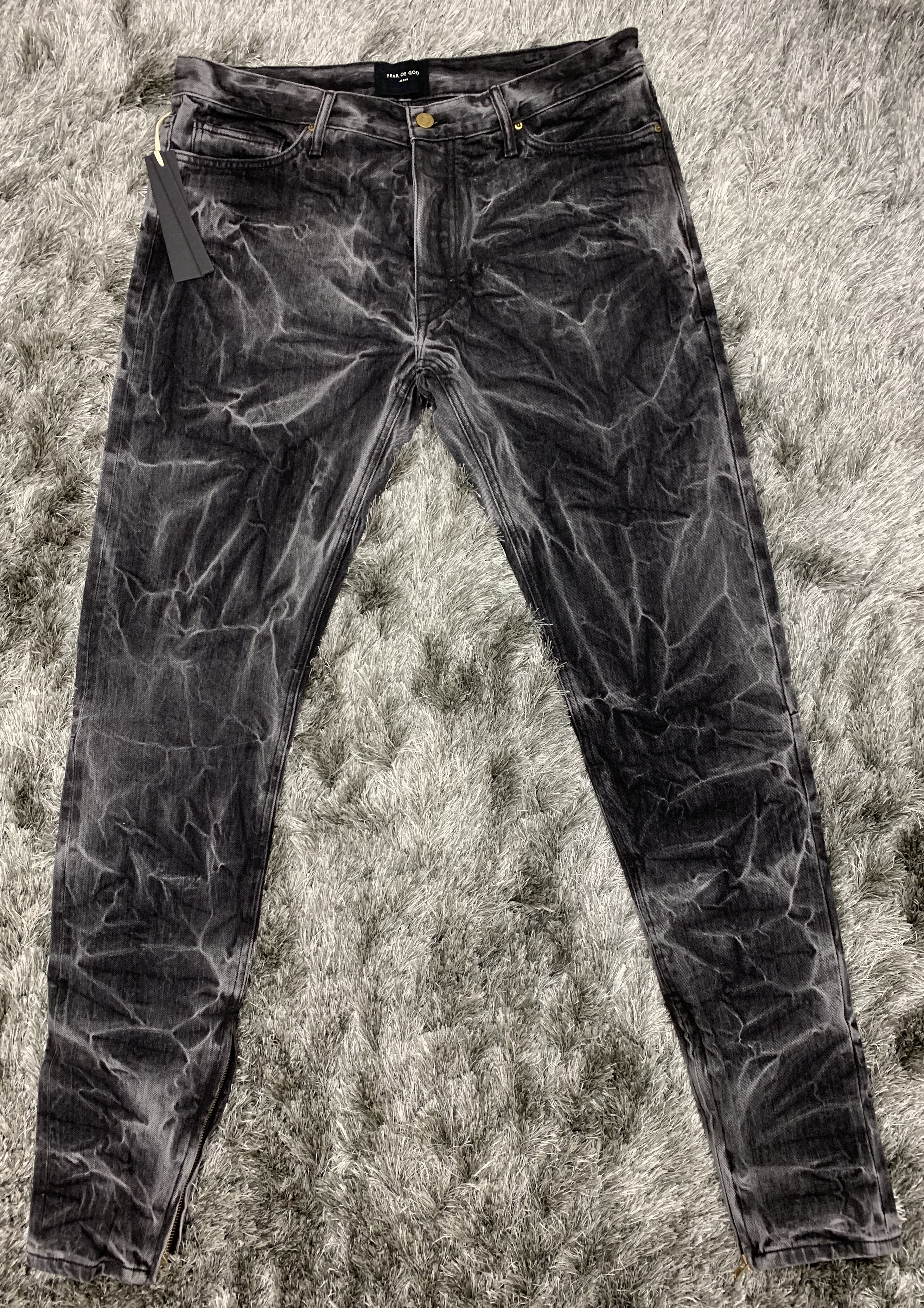 05e6c18c Fear of God ×. Fear of God Fifth Collection 5th Selvedge Denim Holy Water  Jean Black ...