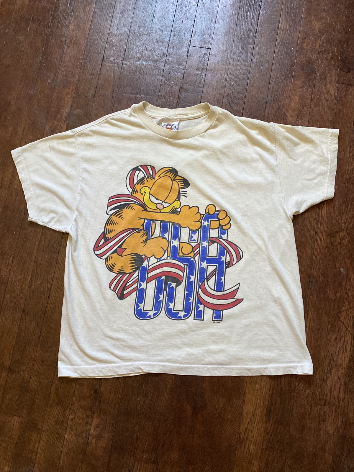 Vintage Vintage Garfield Usa T Shirt Grailed