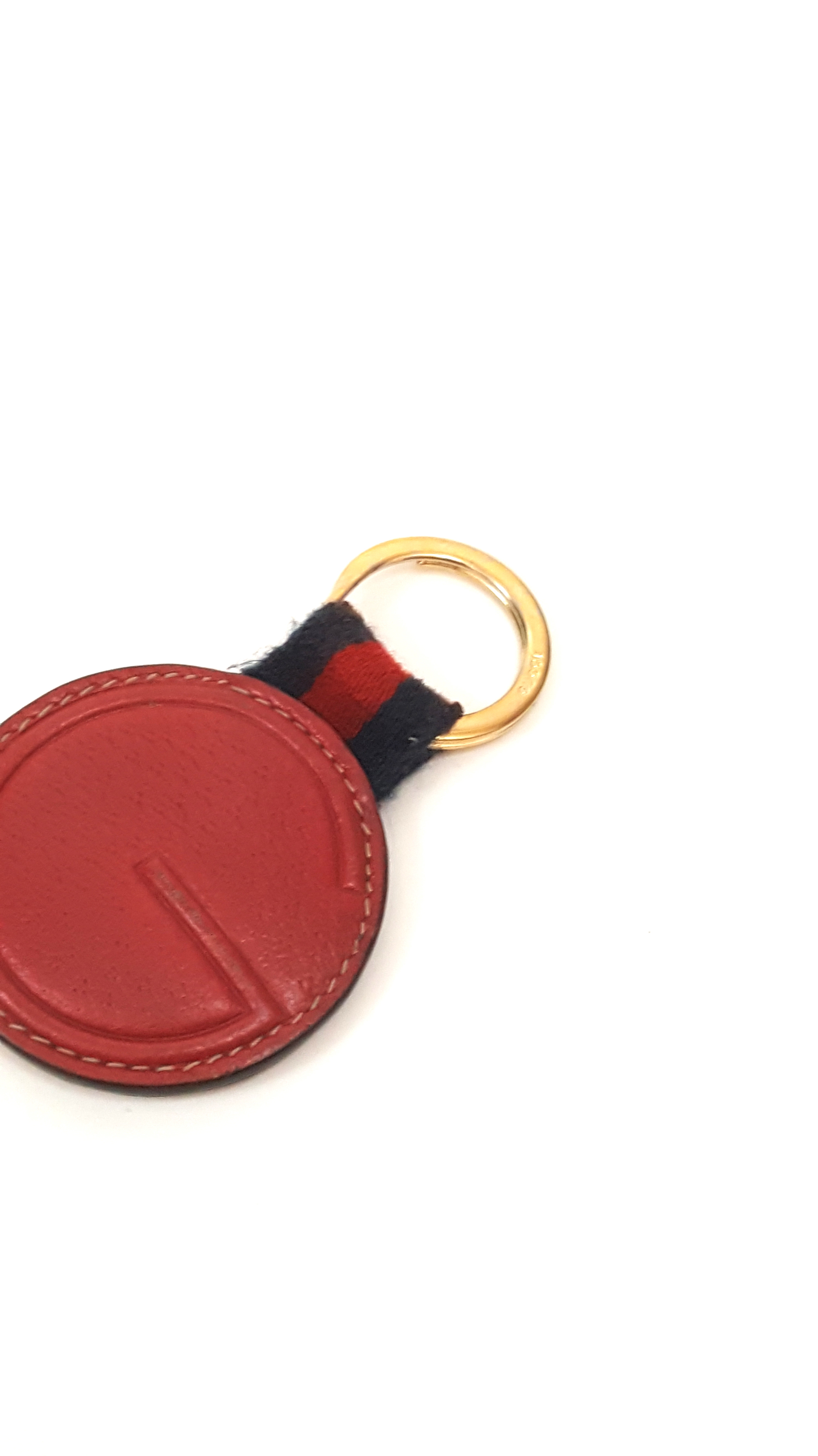 23a4fa17b21 Gucci Red leather Key Chain Key ring Size one size - Jewelry ...
