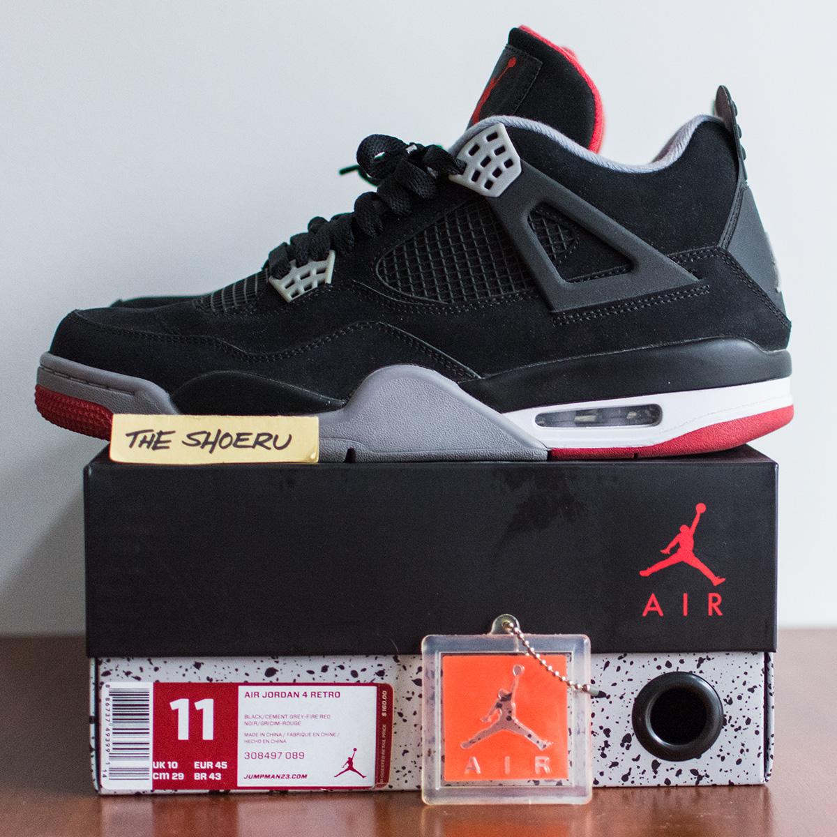 0c60ccf0 Nike Air Jordan 4 Retro Bred (black/cement Grey) 2012   Grailed