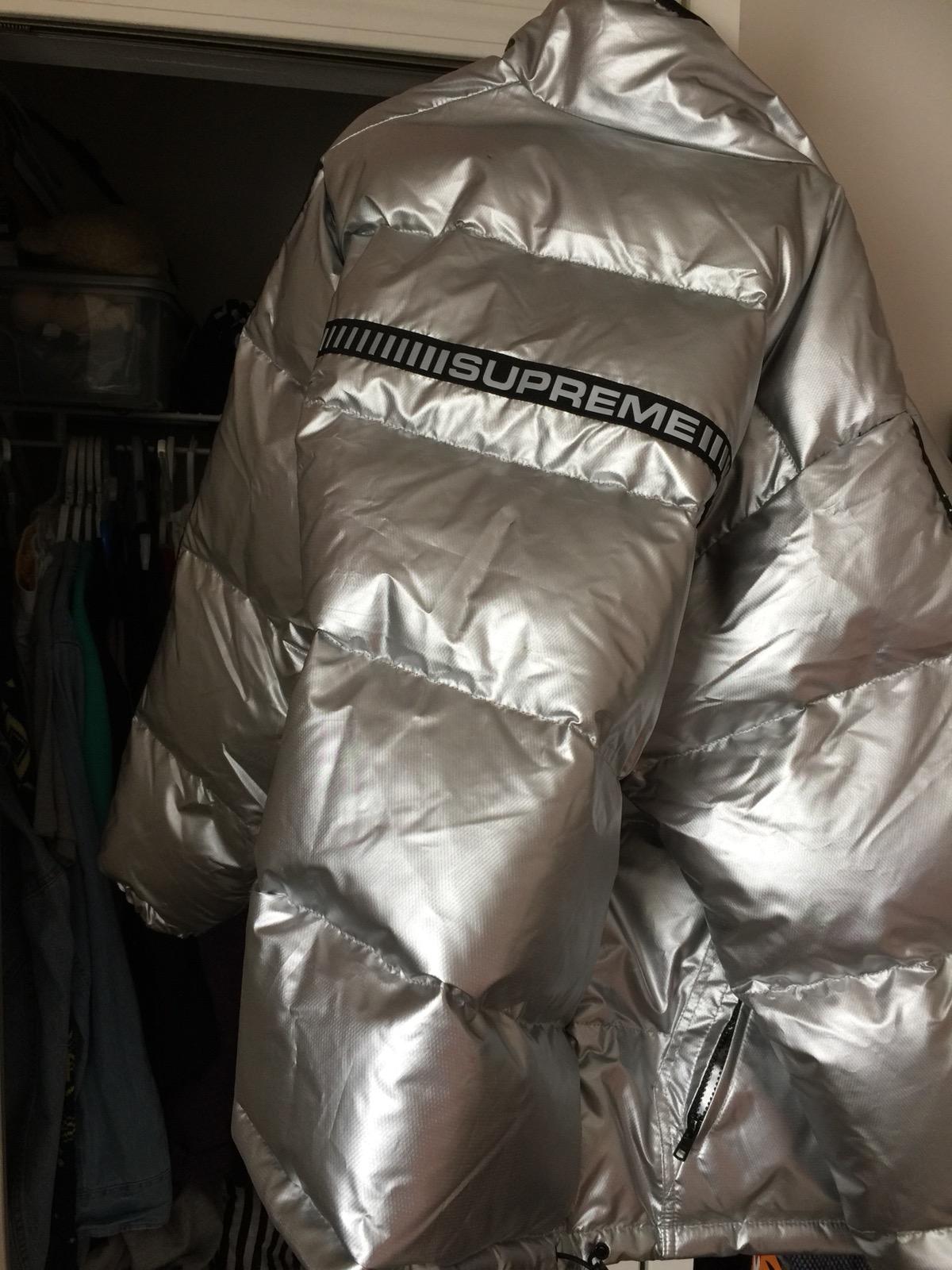 Supreme Reflective Puffer Jacket | Grailed
