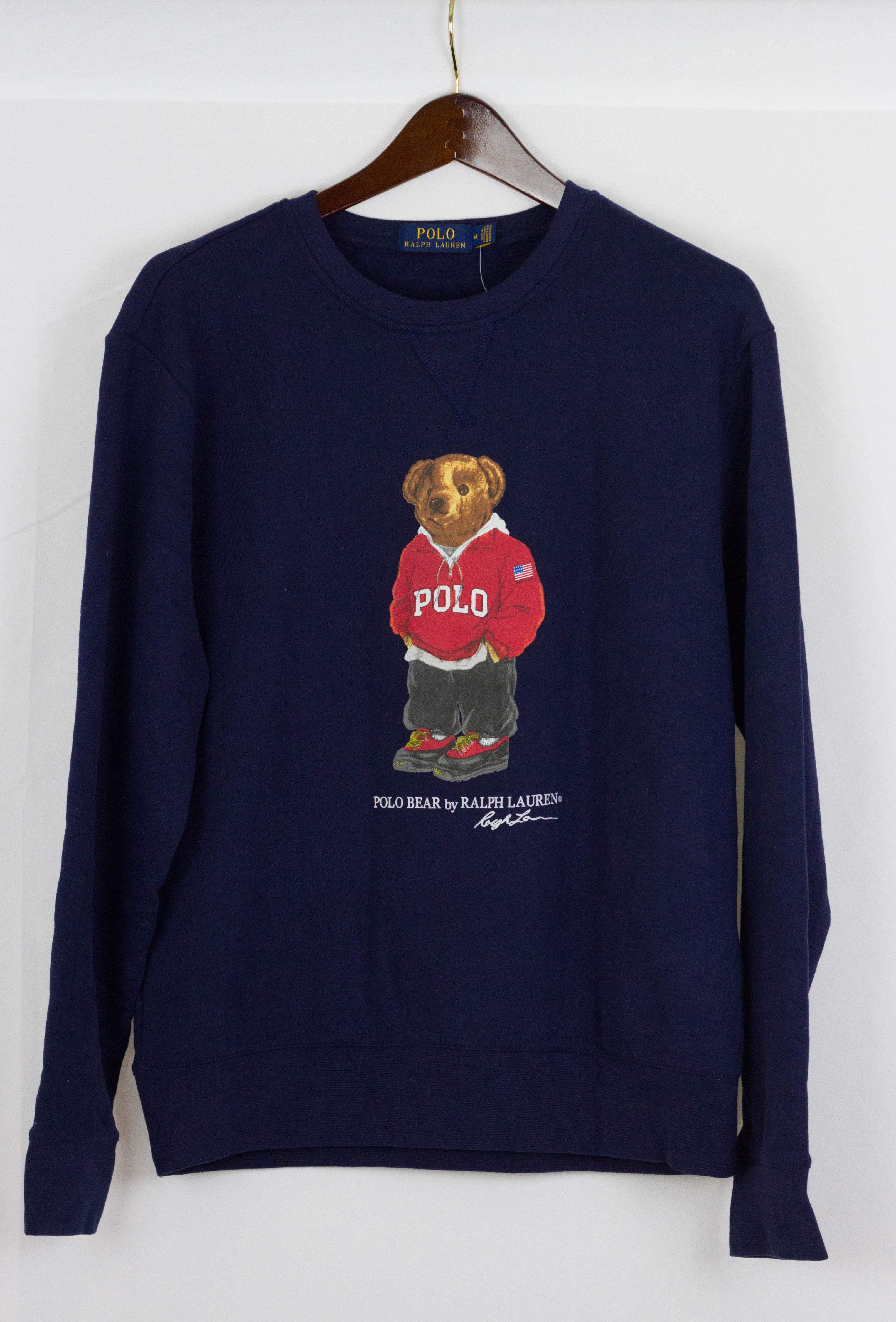 abc7940f Polo Ralph Lauren Polo Bear Crewneck Navy Blue Sz M | Grailed