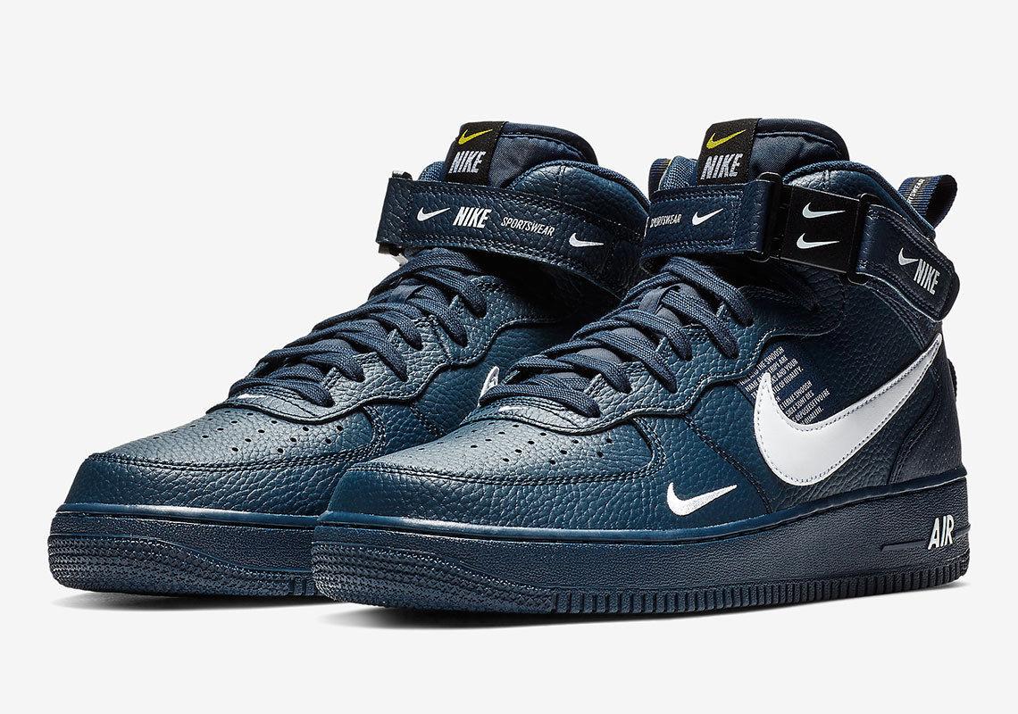 promo code 2684b c908c Nike Nike Air Force 1 Mid  07 Lv8 Obsidian white-black 804609-403 (dark  Navy Color)   Grailed