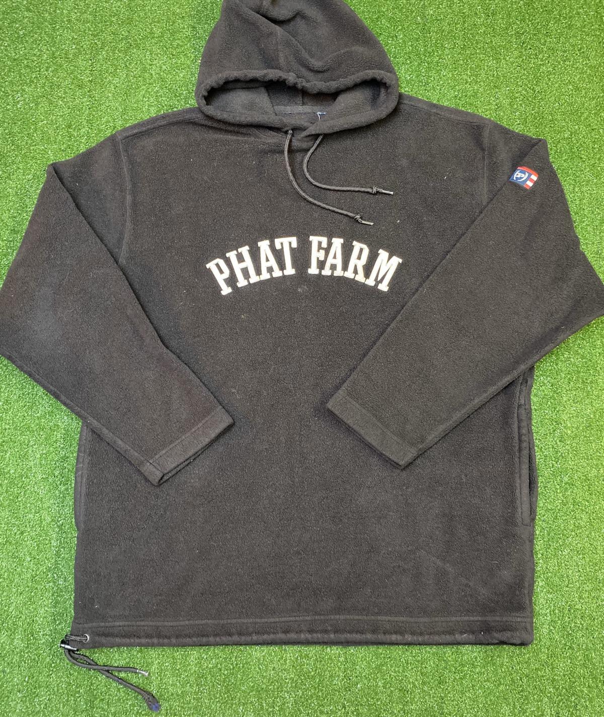 Vintage Phat Farm Fleece Hoodie Sweatshirt Sz Xxl 90s Vintage Grailed