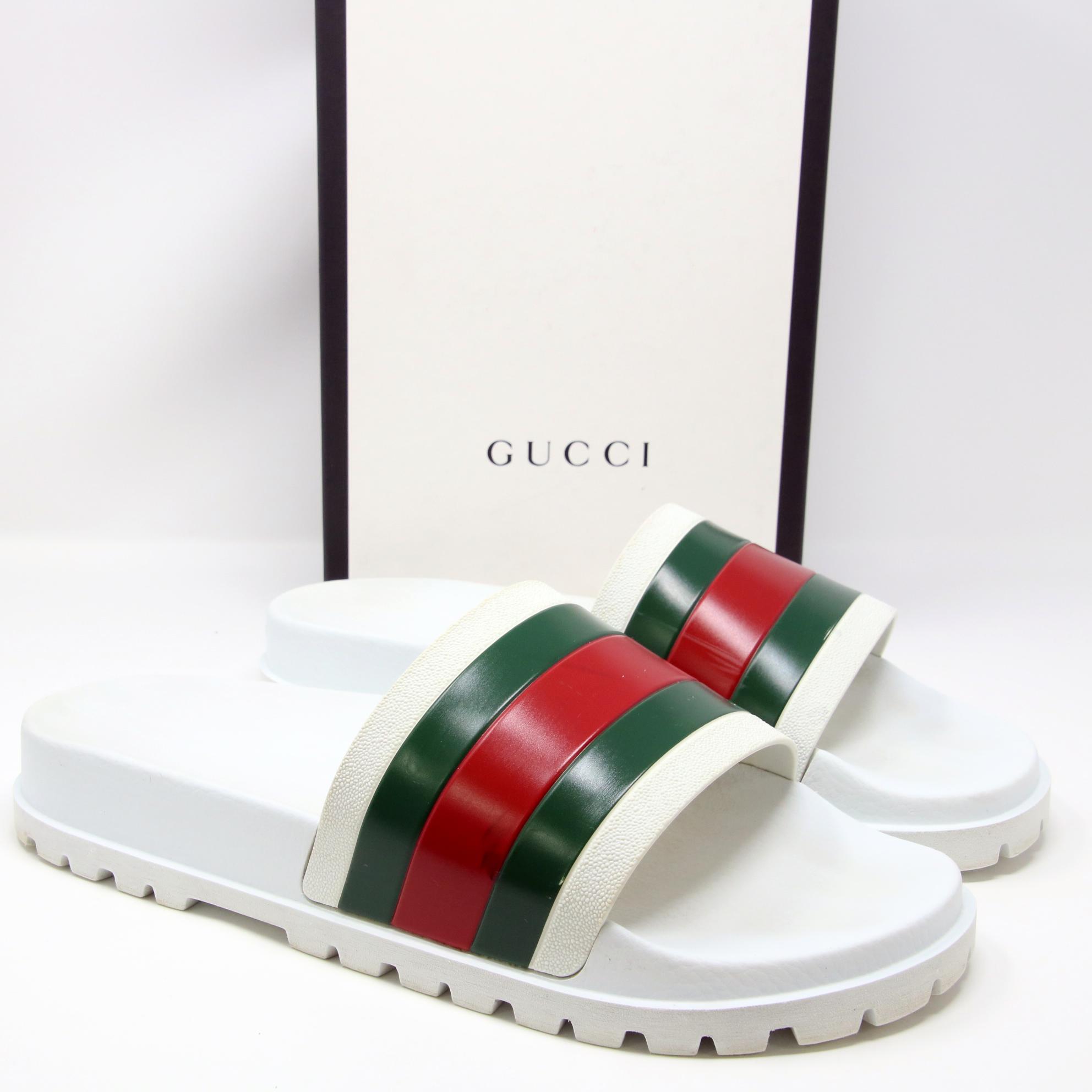 ef0e8f7d9 Gucci Gucci Signature Pursuit 72 Trek Flip Flop Summer Sandals White sz 12  Sold Out Size 12 - Sandals for Sale - Grailed