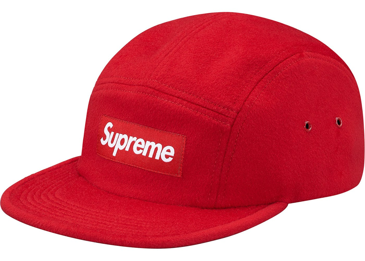 Supreme SUPREME BOX LOGO 5-panel wool camp hat RED Size one size - Supreme  for Sale - Grailed 3d570c2c279