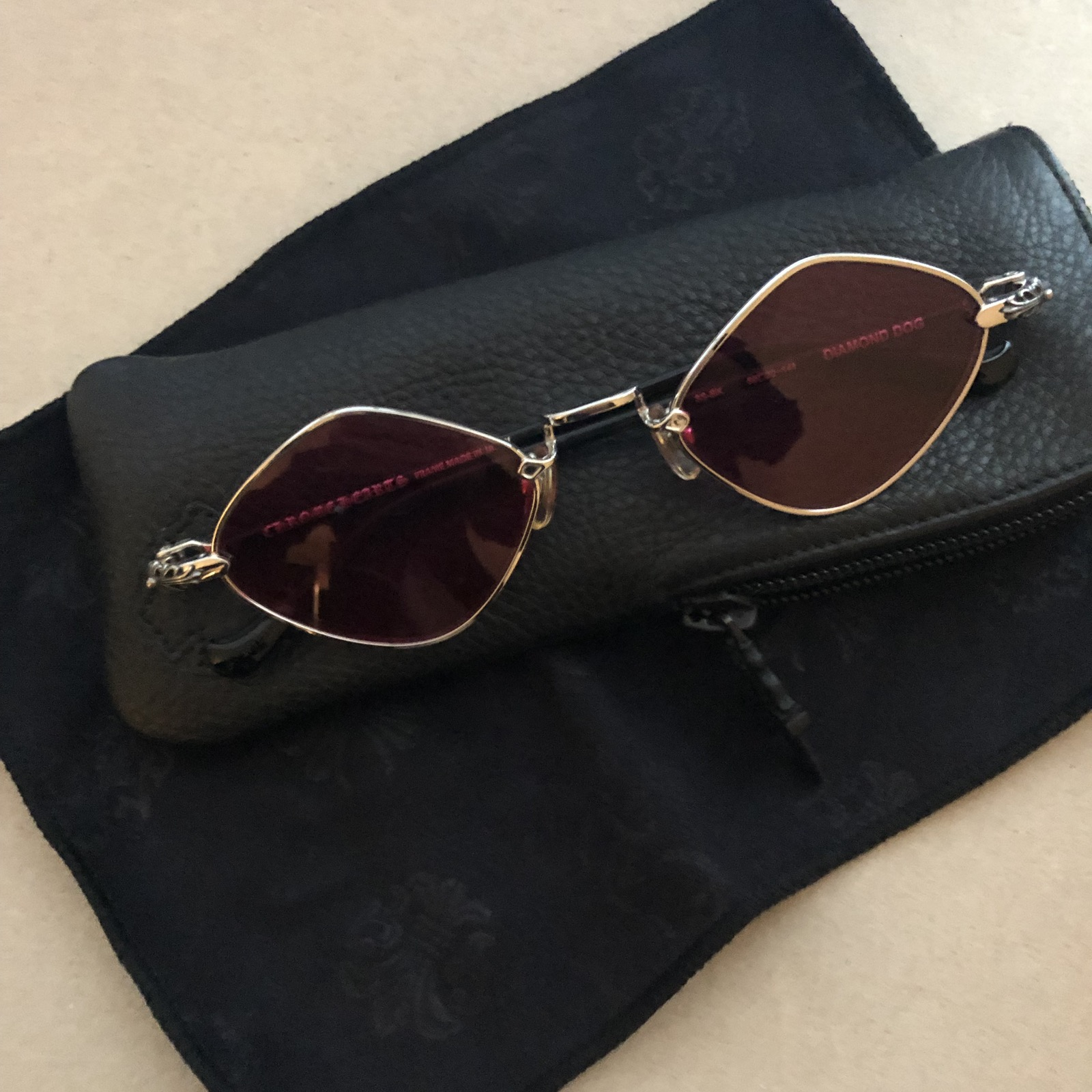 a56e53e2f39 Chrome Hearts Chrome Hearts Diamond Dog Sunglasses Size one size - Glasses  for Sale - Grailed