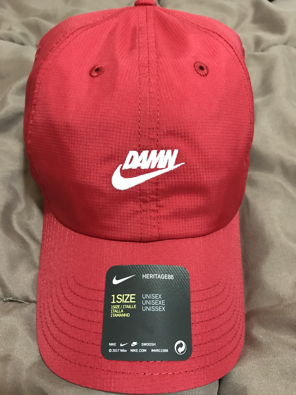 Nike Nike x TDE Championship Tour Pop Up DAMN Hat Red Kendrick Lamar Size  one size - Hats for Sale - Grailed 1082116df1d8