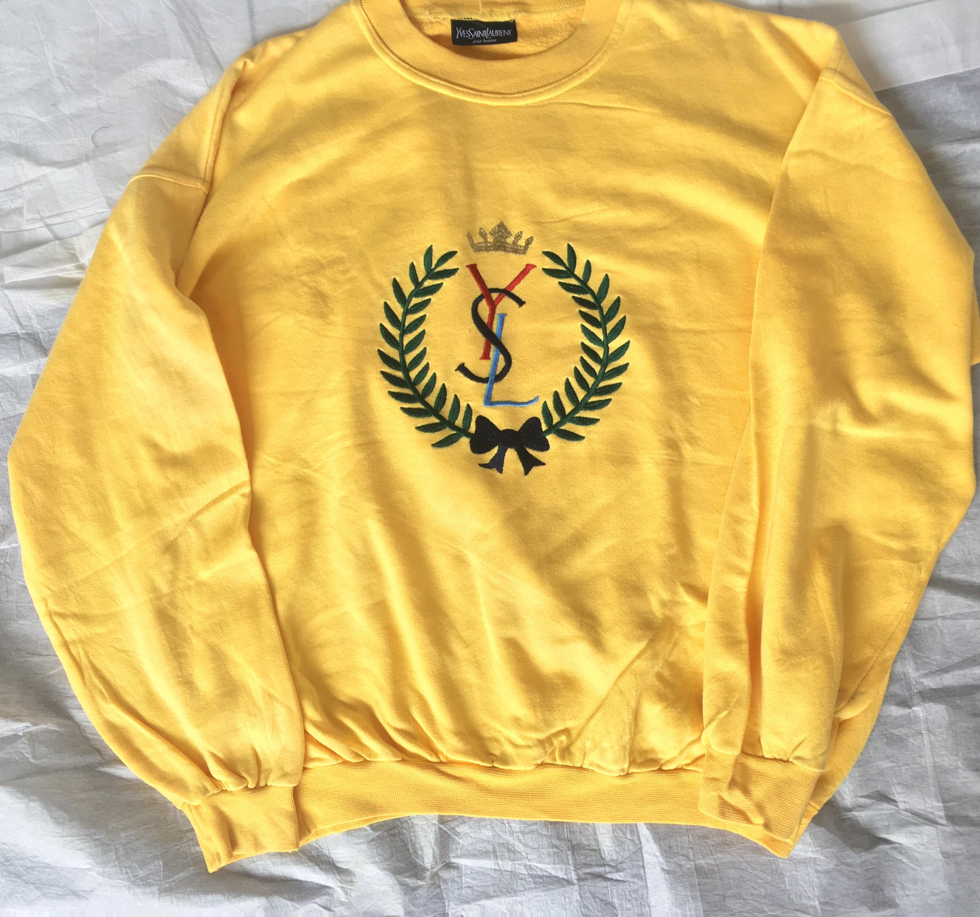2d00d7f0316 Yves Saint Laurent. Vintage Yves Saint Laurent Logo Crewneck. Size  US ...