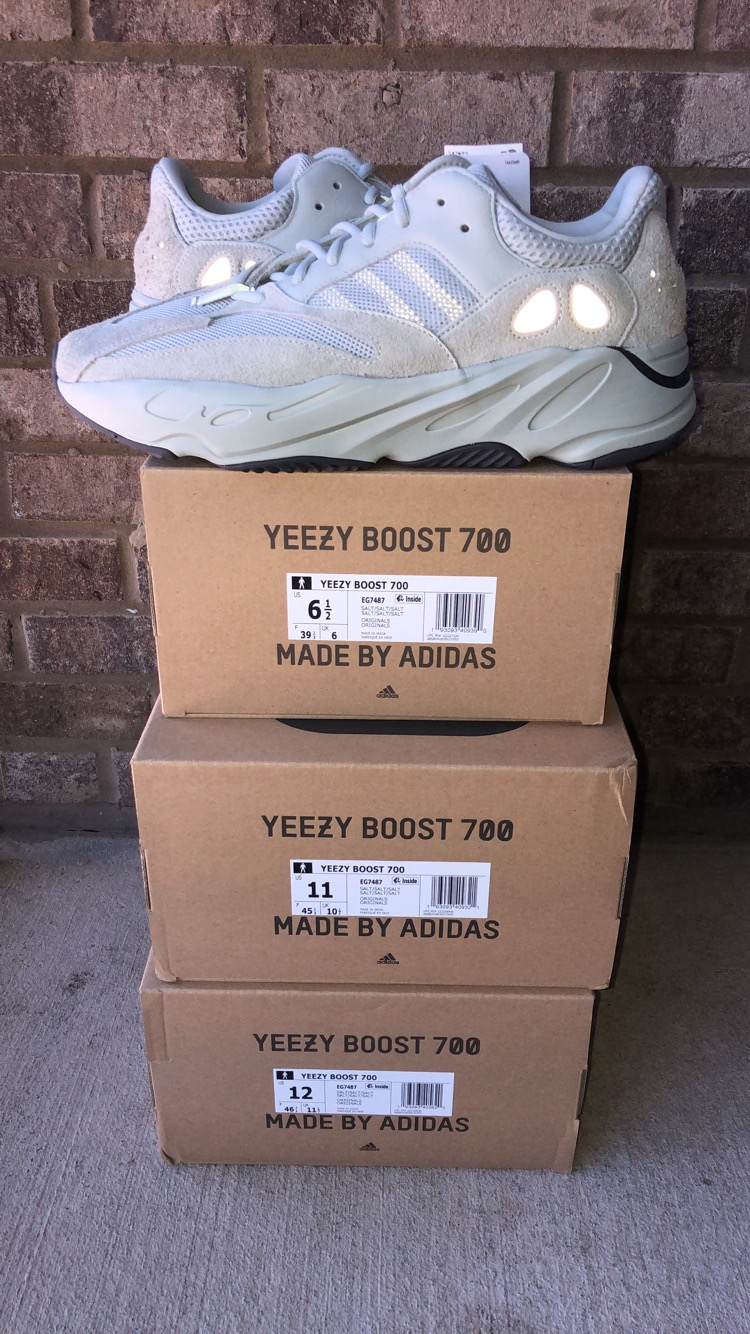 fc2389f81 Adidas Kanye West Adidas Yeezy Boost Salt 700 Size 6.5