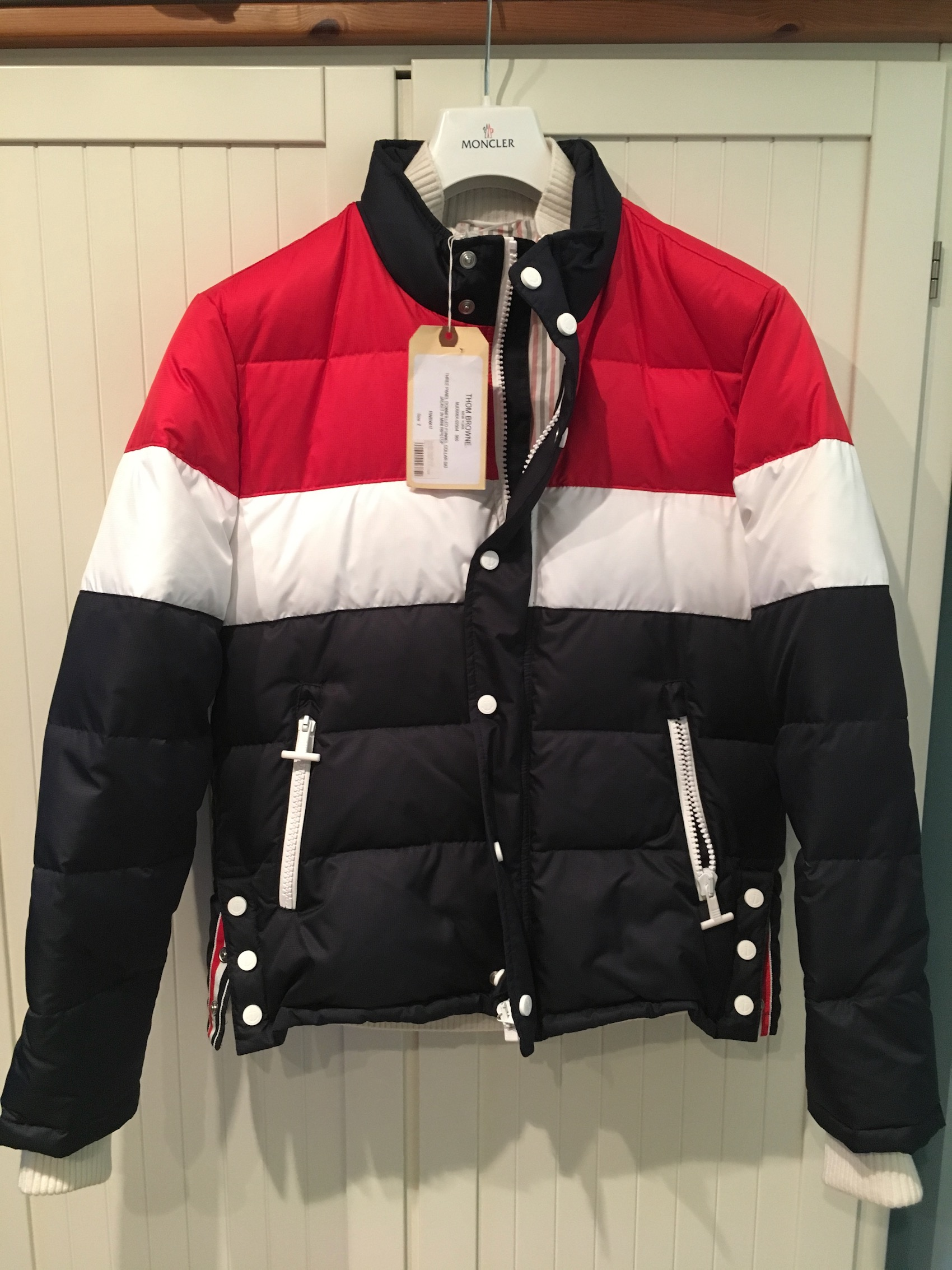 b6d207bf95 Thom Browne Three Panel Downfilled Funnel Collar Ski Jacket | Grailed