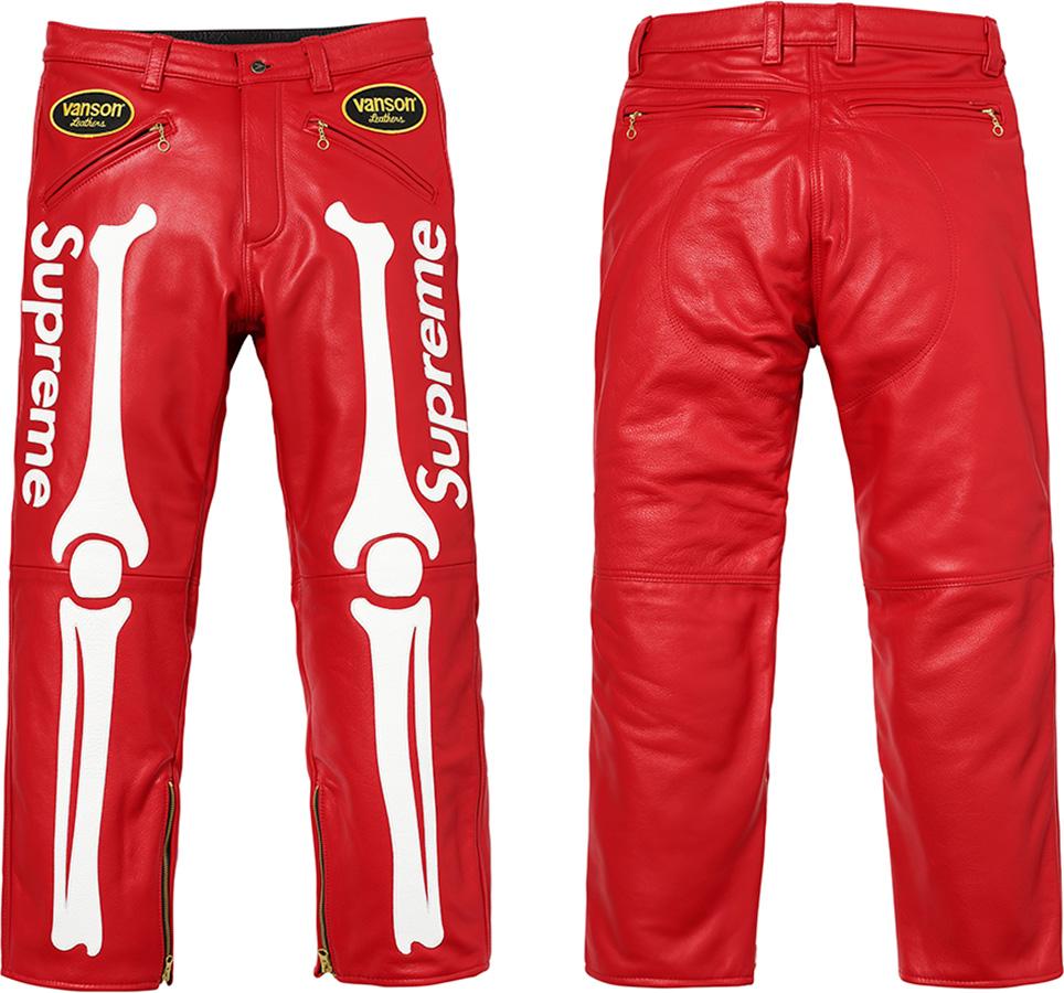 9ba8e5be067d Supreme Upreme Vanson Bones Leather Pants
